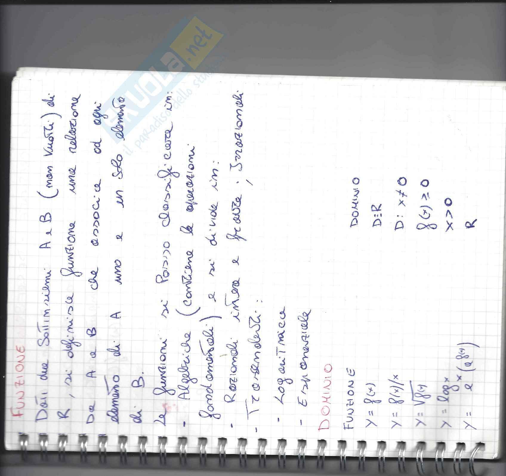 Lezioni, Analisi Matematica