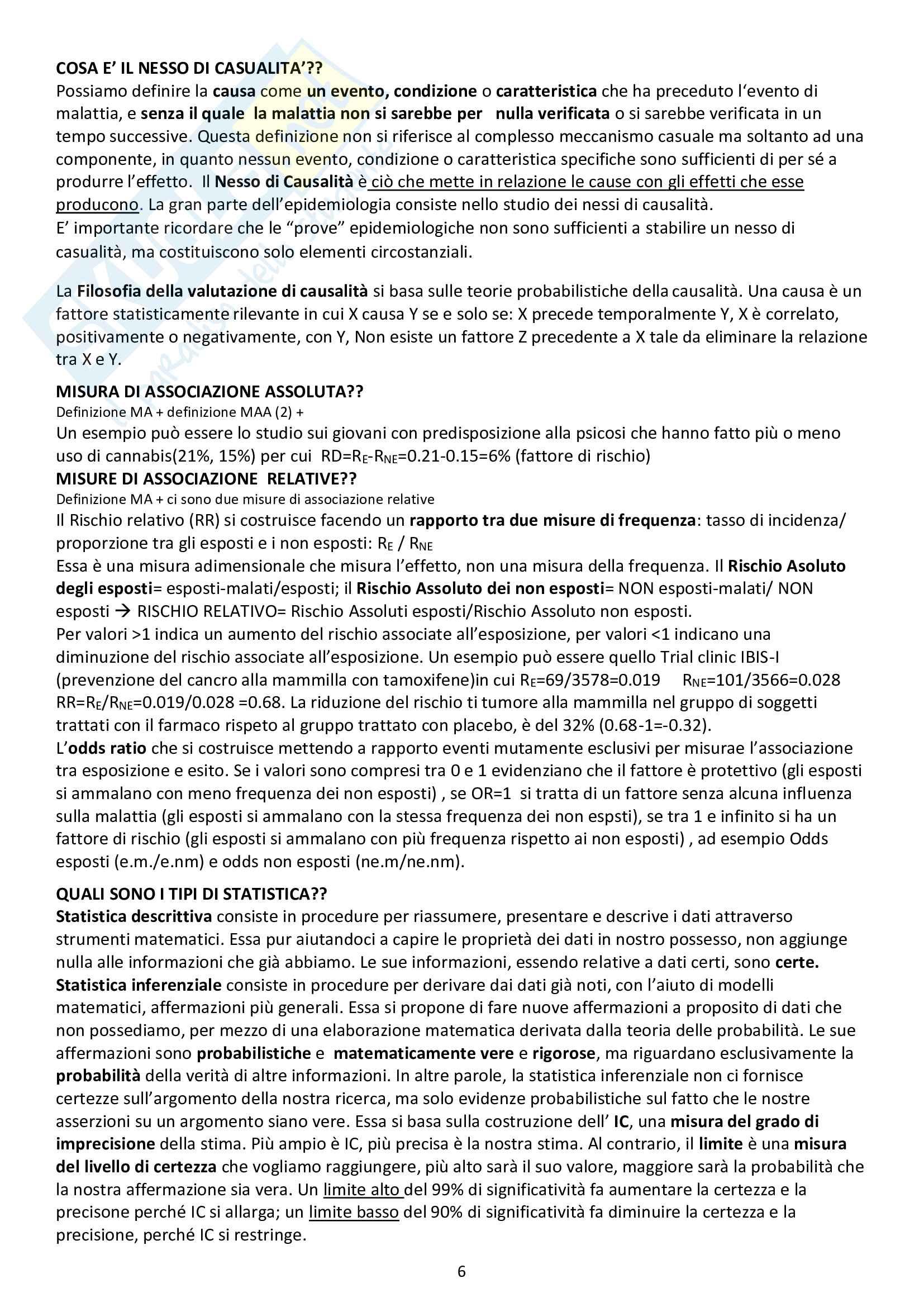 Epidemiologia- 122 Domande d'esame con risposta Pag. 6