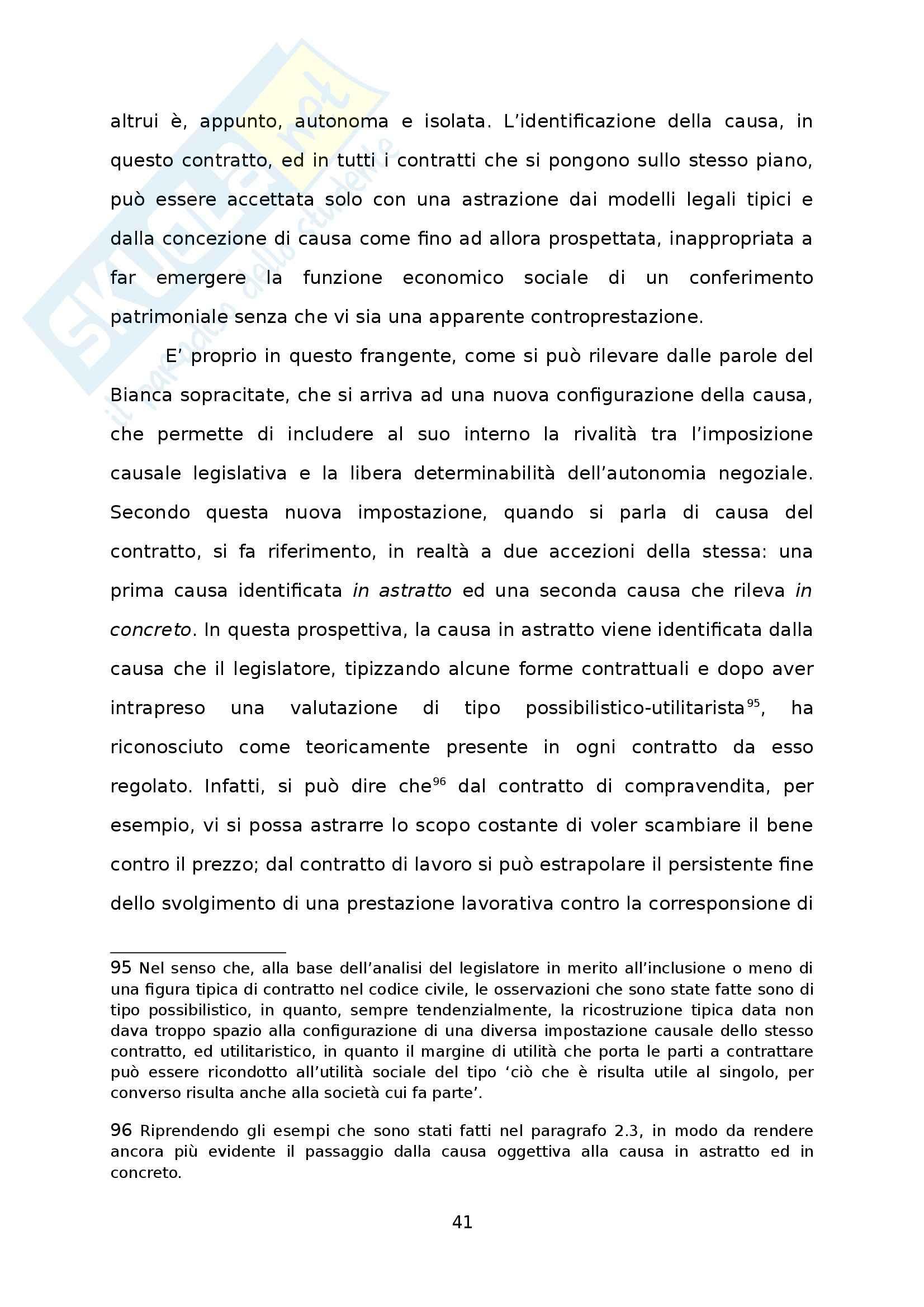 Causa, Consideration e loro influenza nel diritto privato europeo - Tesi Pag. 41