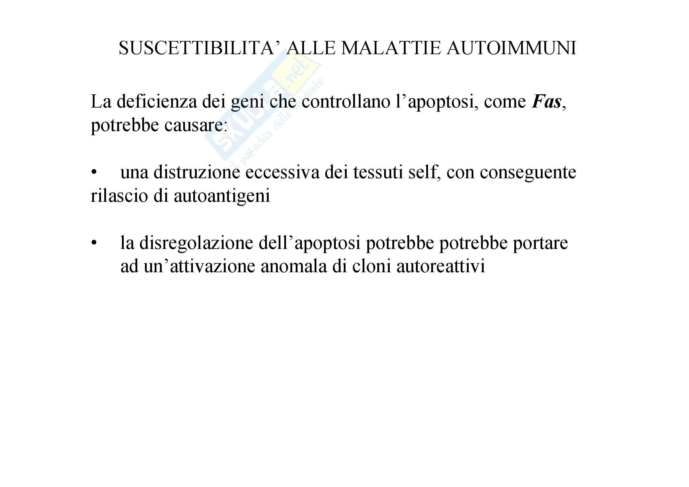 Immunologia - suscettibilità alle malattie autoimmuni Pag. 11