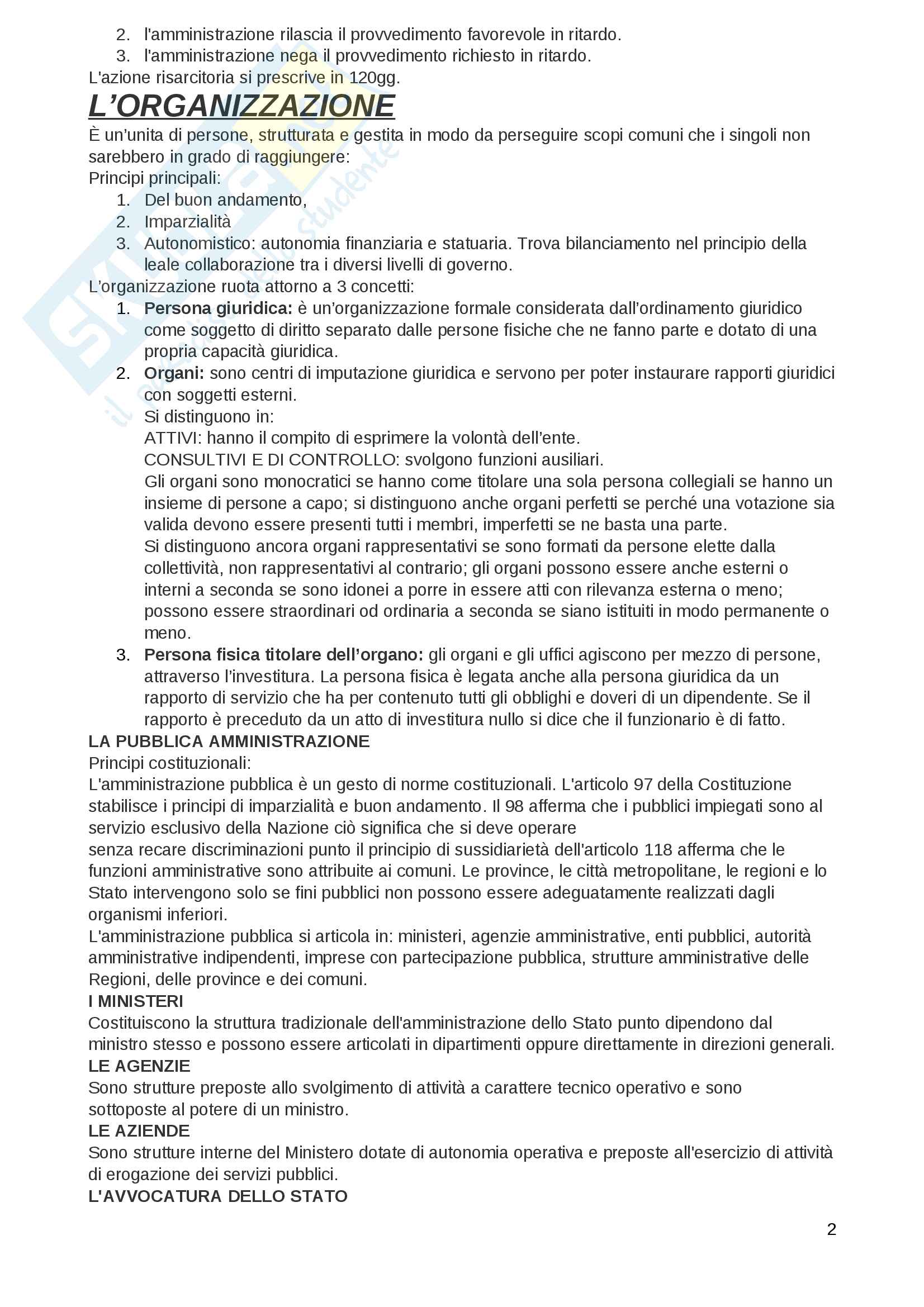Diritto amministrativo riassunto Pag. 2