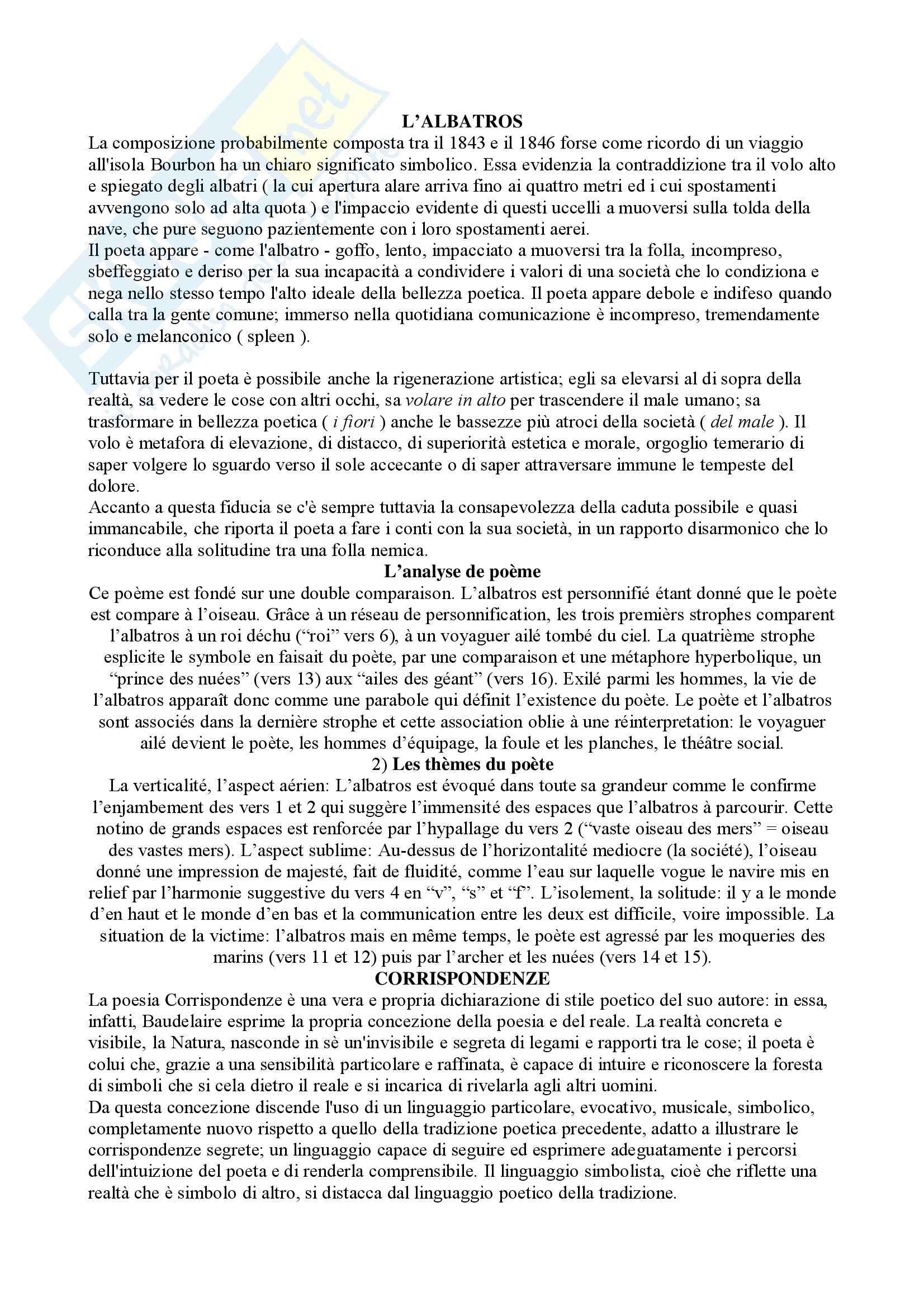 appunto M. Selvaggio Letteratura francese
