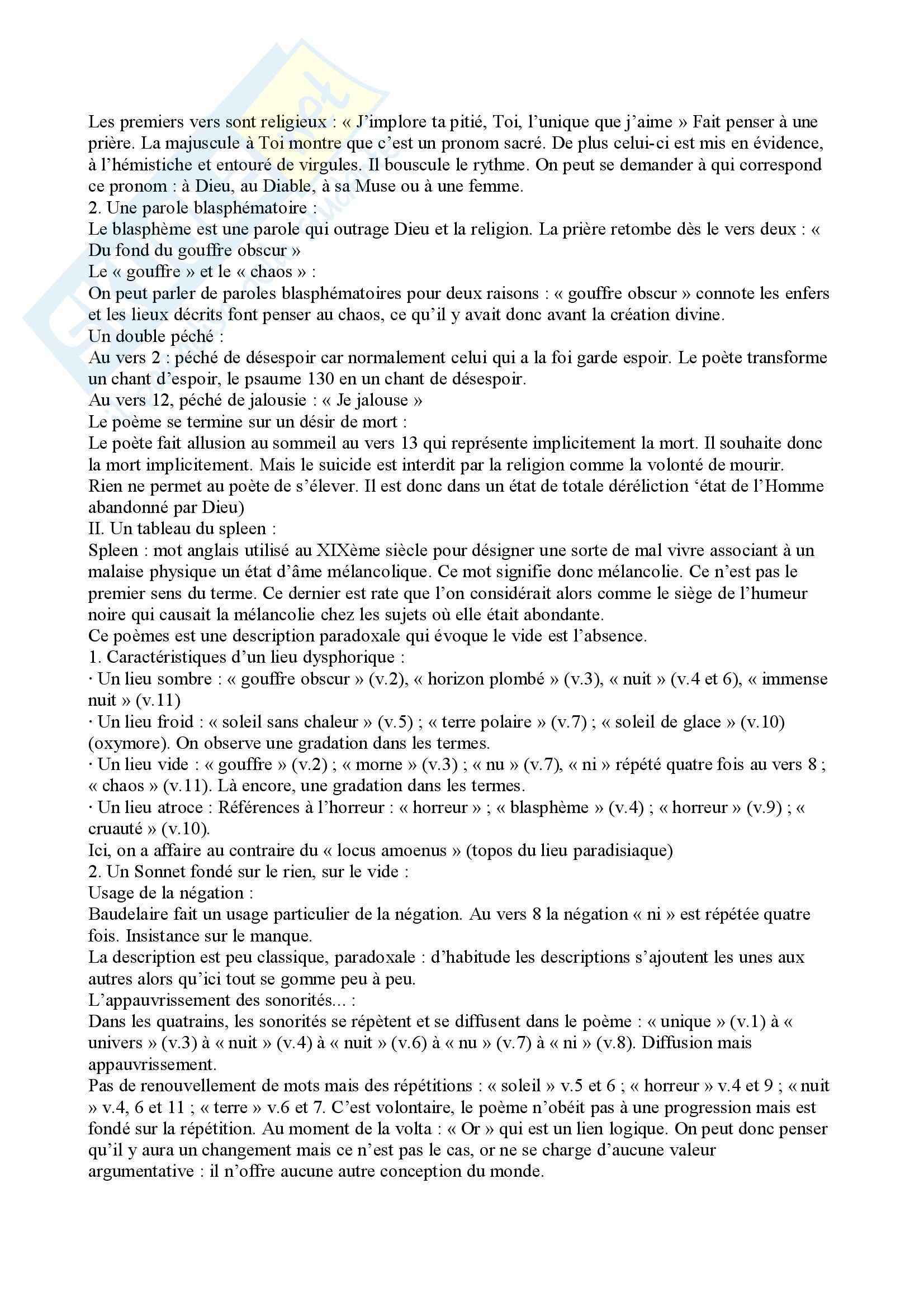 I fiori del male, Baudelaire - analisi poesie Pag. 21