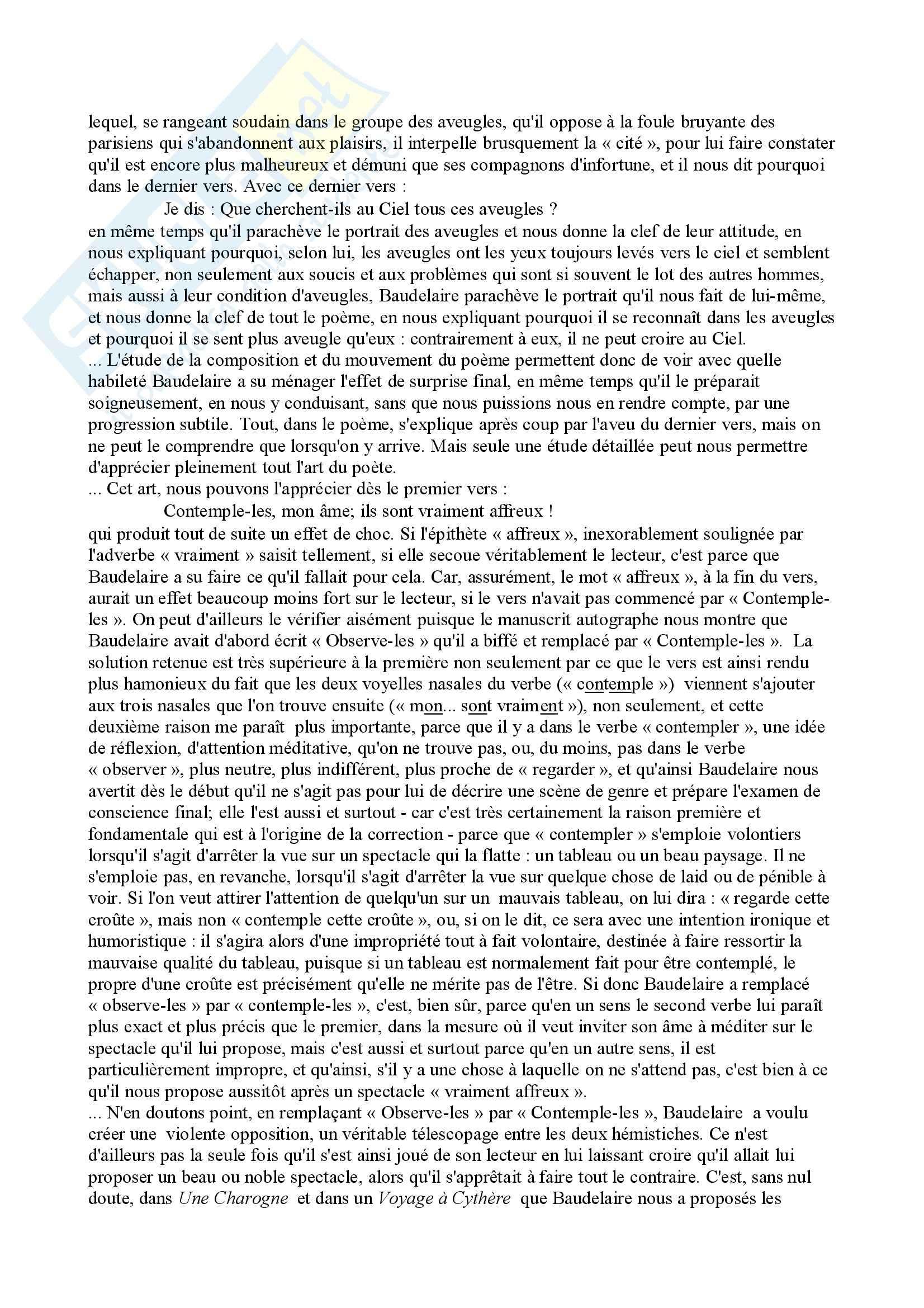 I fiori del male, Baudelaire - analisi poesie Pag. 51