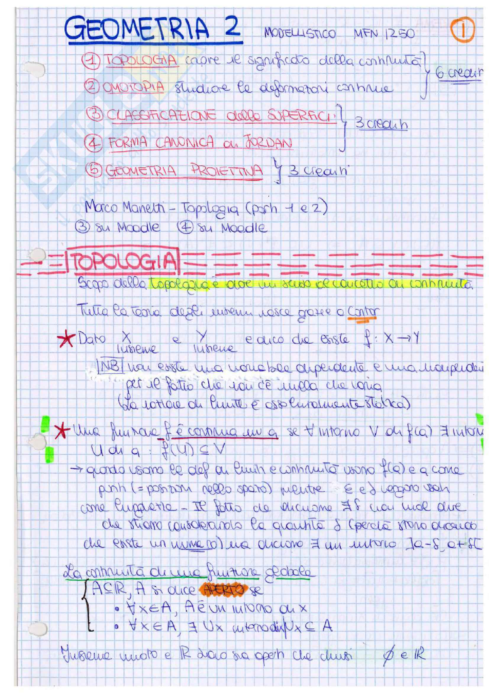 Geometria 2, appunti ed esercizi
