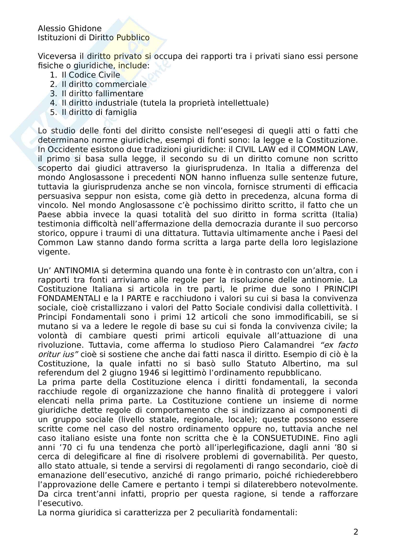 Istituzioni di Diritto Pubblico Pag. 2