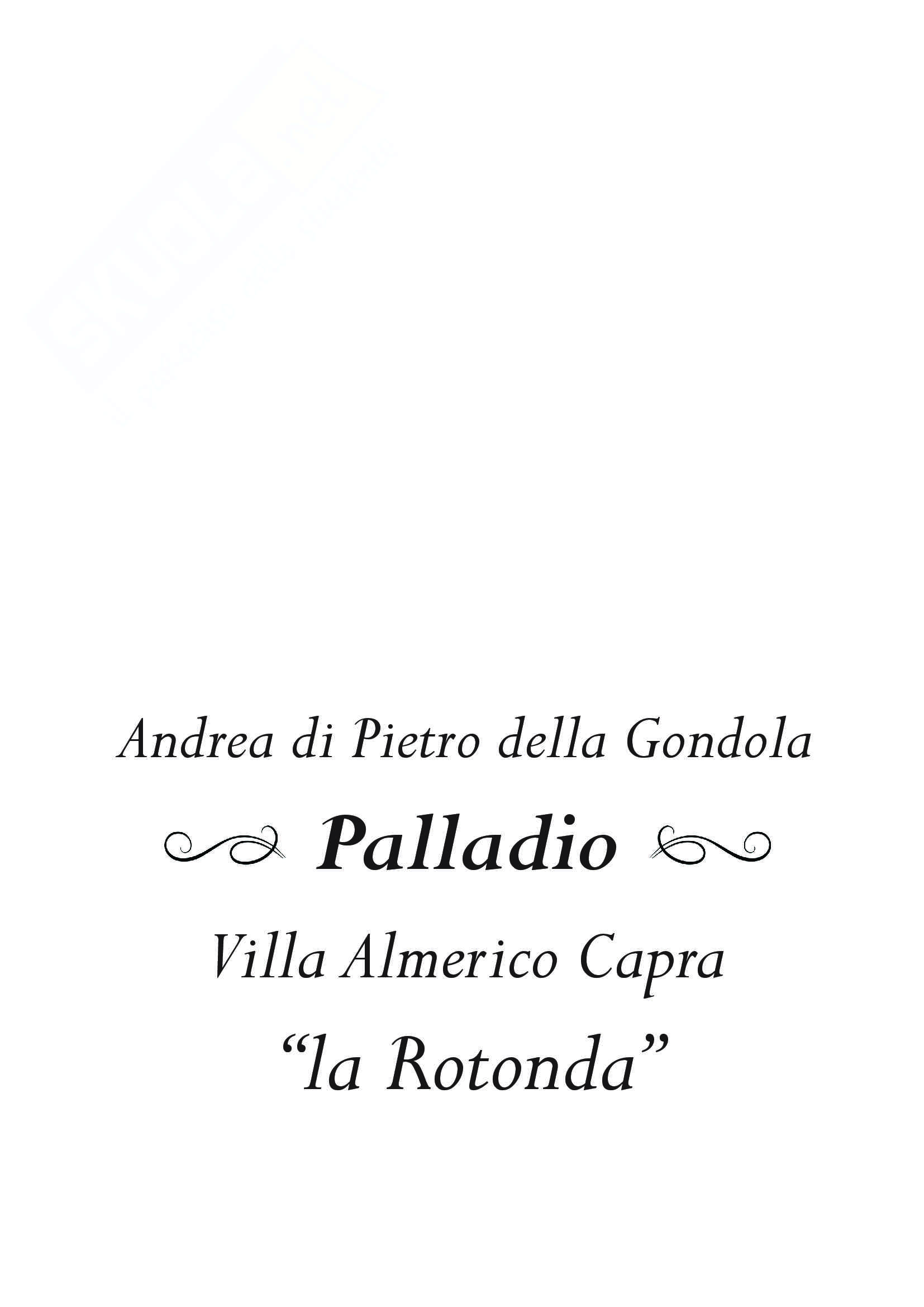 Approfondimento Palladio e La Rotonda: Storia dell'architettura moderna
