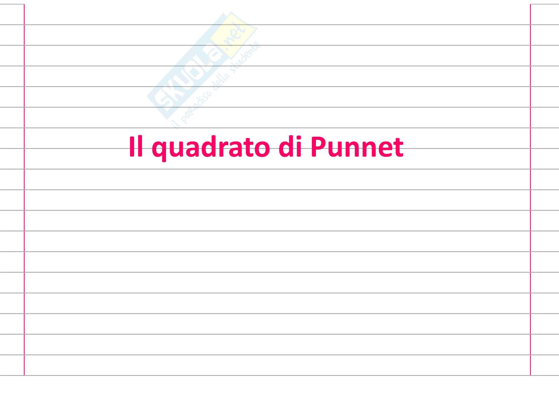Il quadrato di Punnet