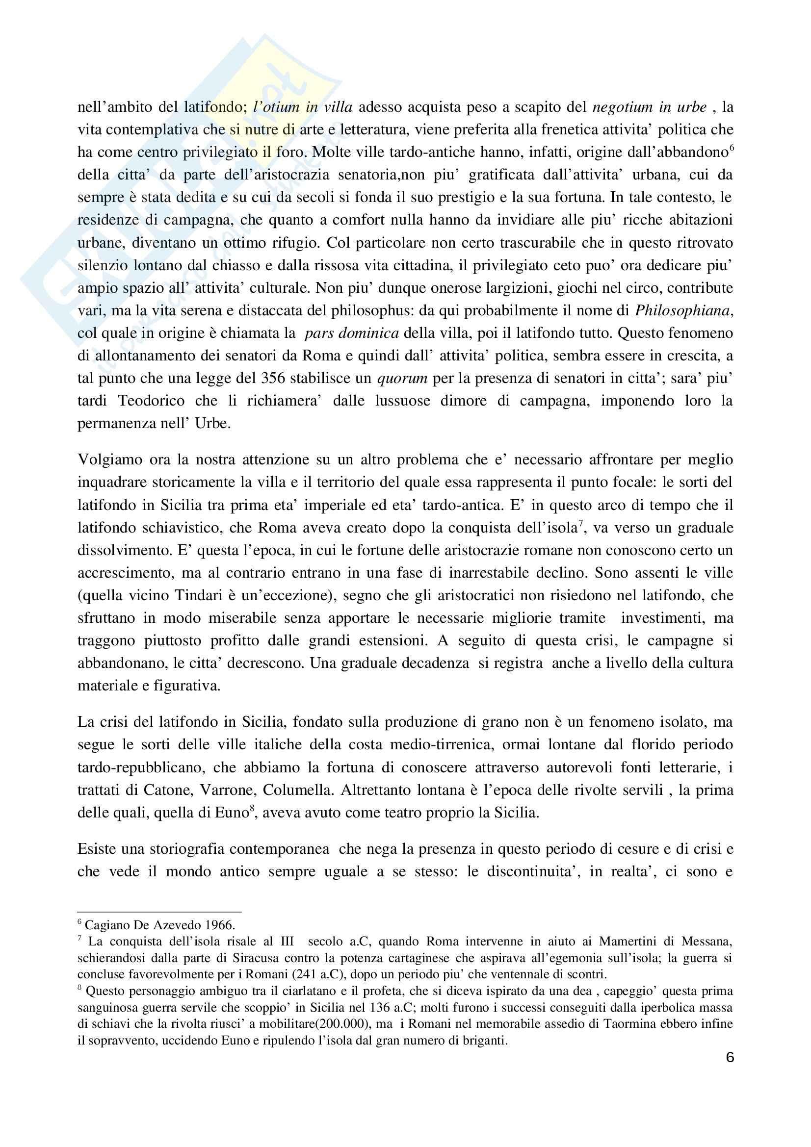 La villa romana di Piazza Armerina 2010, Archeologia e storia dell'arte Pag. 6