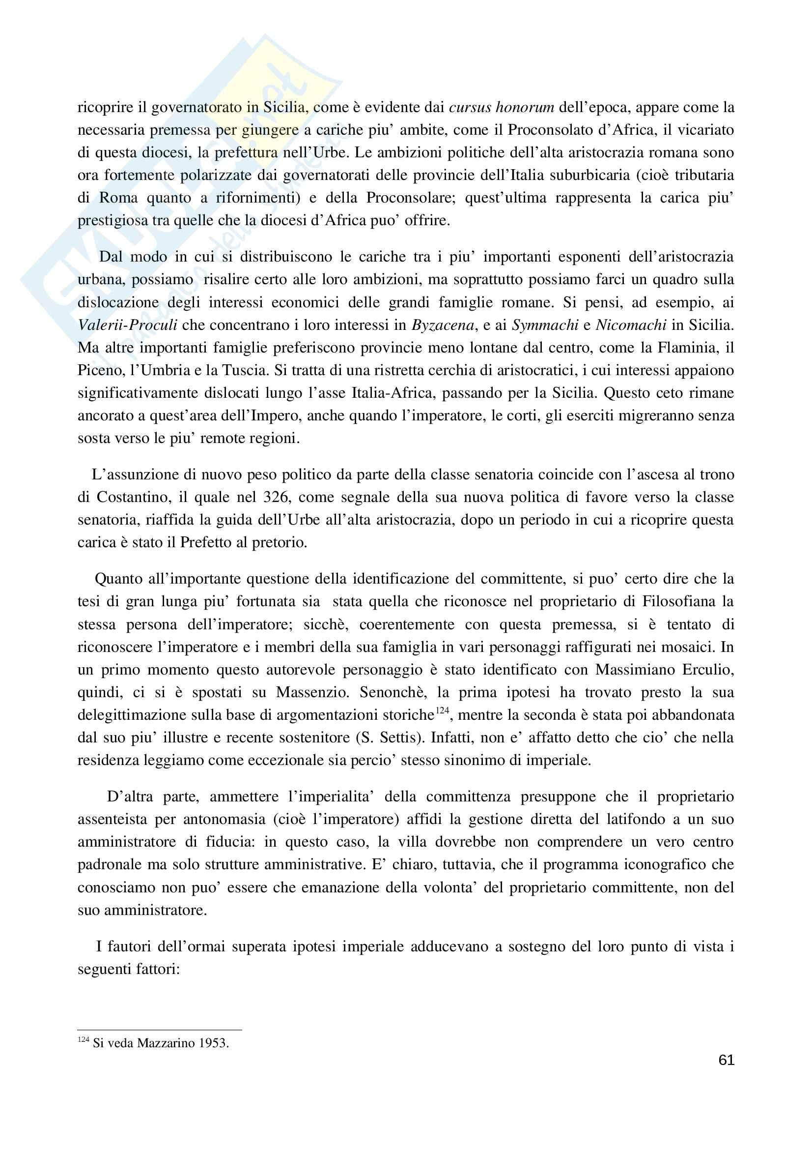La villa romana di Piazza Armerina 2010, Archeologia e storia dell'arte Pag. 61