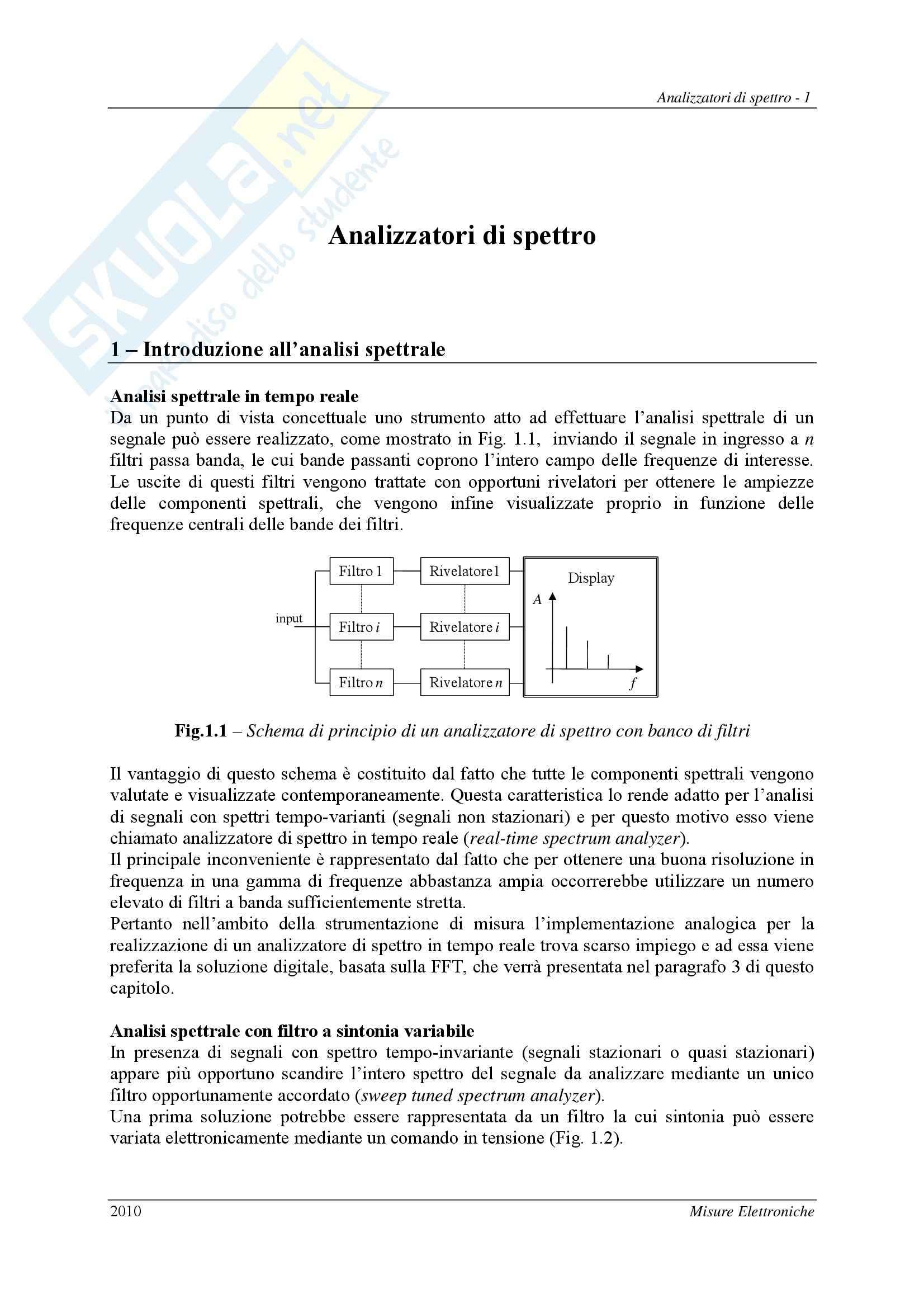 Misure per l'automazione - Analizzatori di spettro