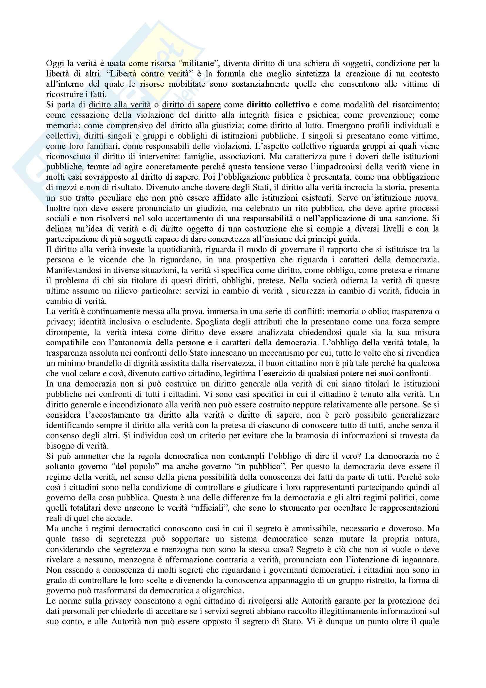 Riassunto esame diritto, prof. Messinetti, libro consigliato Il diritto di avere diritti, Rodotà Pag. 26