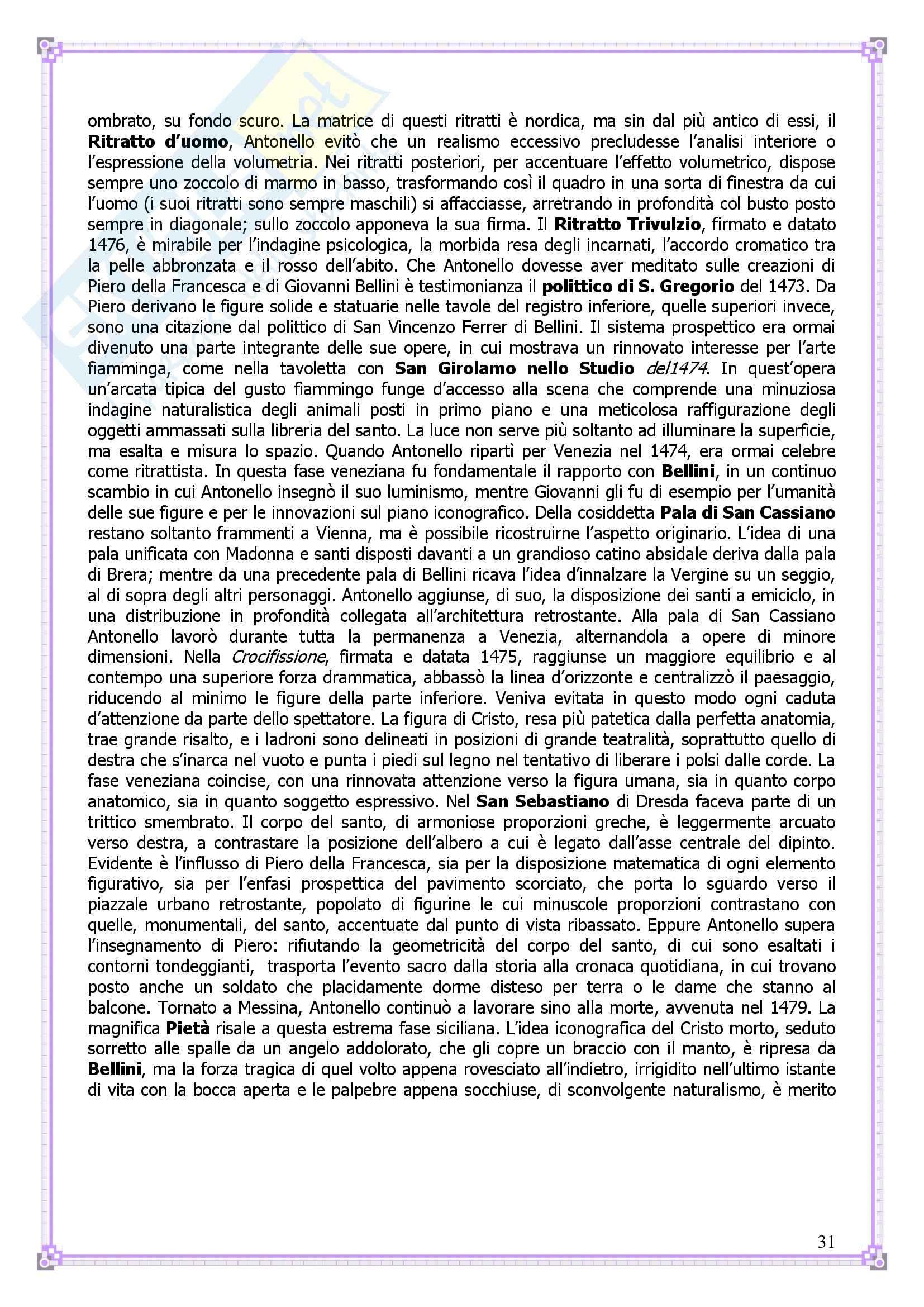 Lineamenti di Arte moderna: 400 e 500 - Appunti Pag. 31