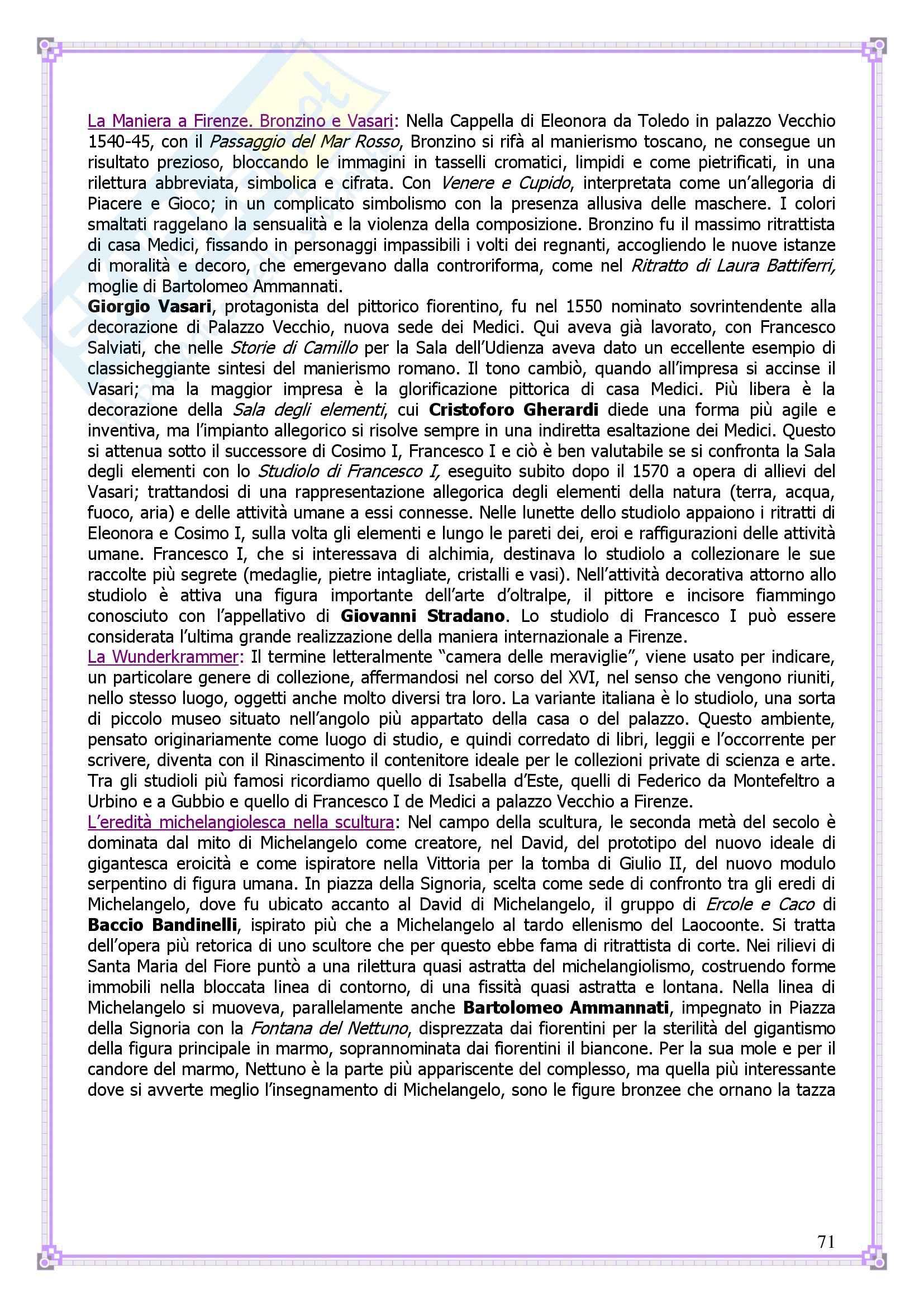 Lineamenti di Arte moderna: 400 e 500 - Appunti Pag. 71