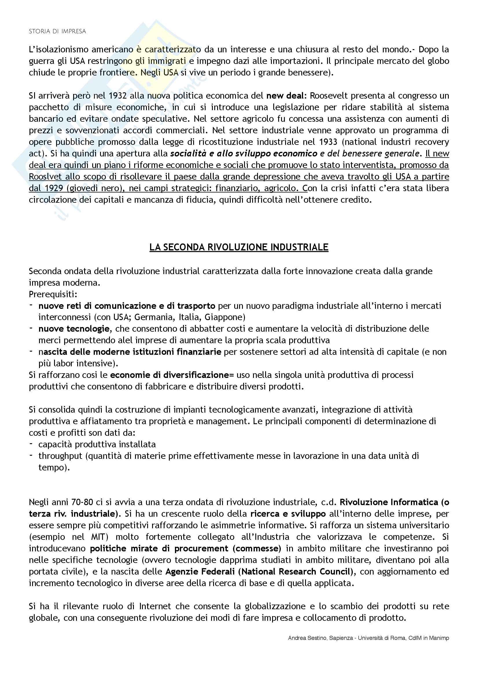 Riassunto esame Storia di impresa, docente D. Strangio, libro consigliato Storia d'impresa: Complessità e comparazioni, Colli-Amadori Pag. 16