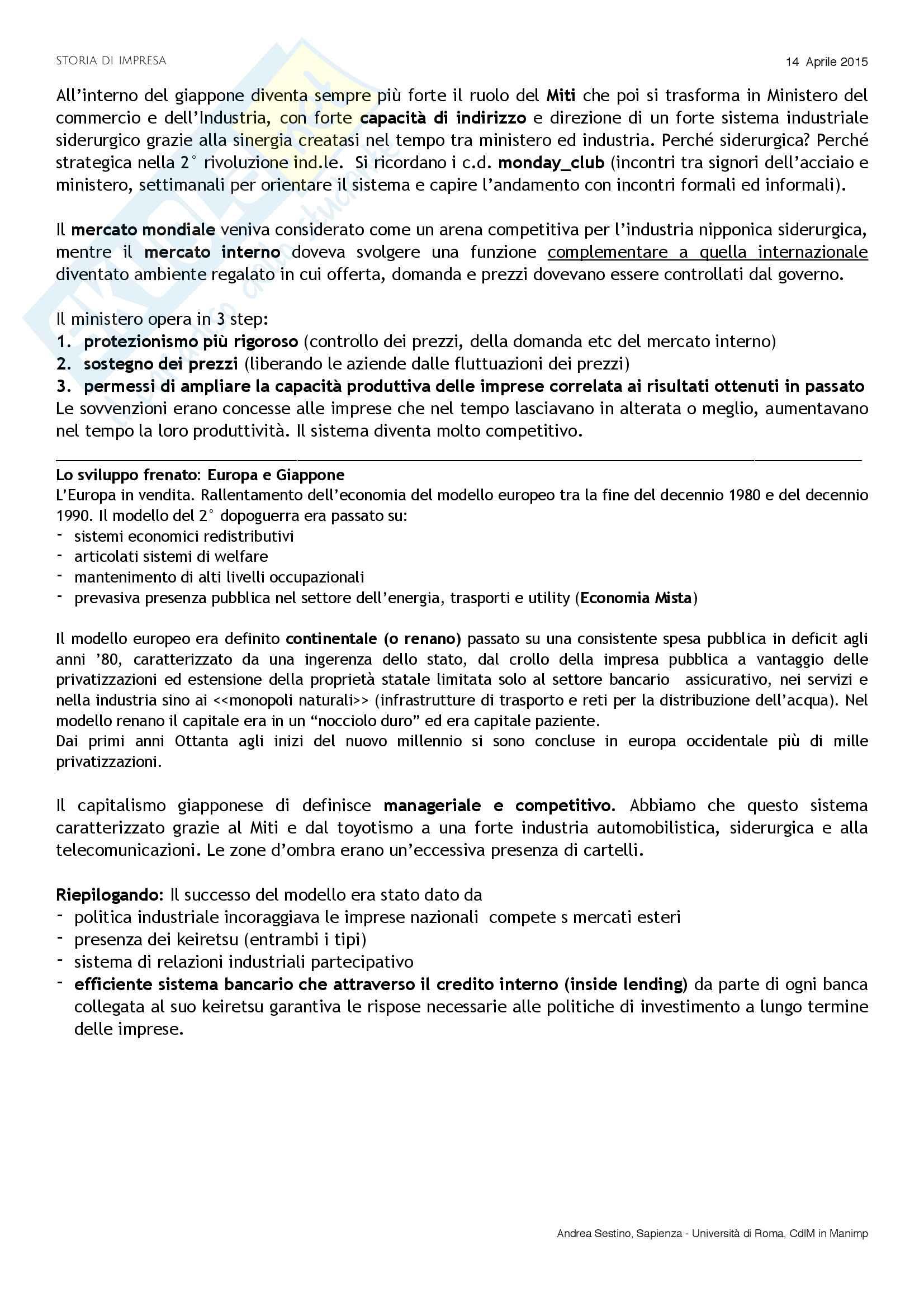 Riassunto esame Storia di impresa, docente D. Strangio, libro consigliato Storia d'impresa: Complessità e comparazioni, Colli-Amadori Pag. 26