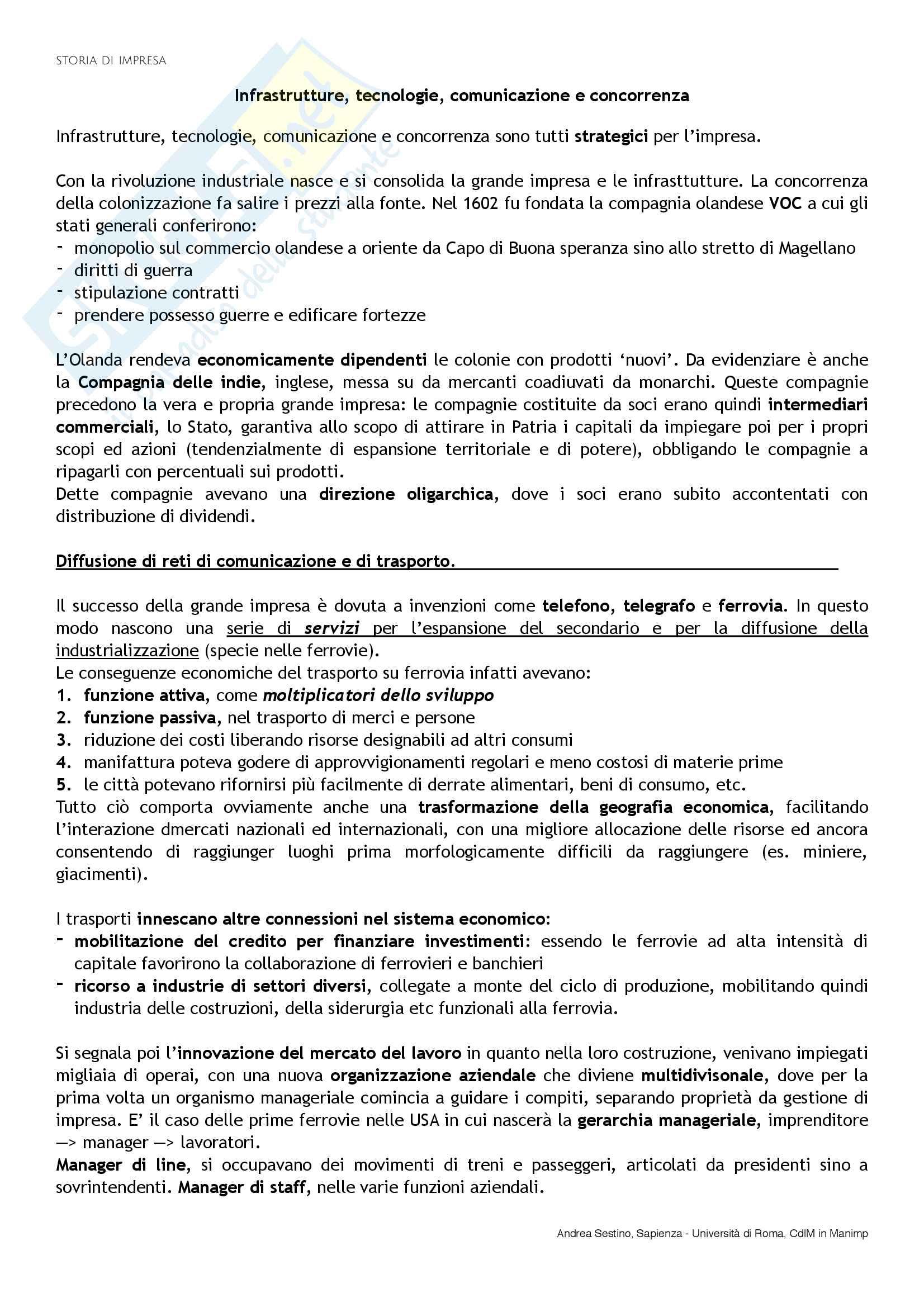 Riassunto esame Storia di impresa, docente D. Strangio, libro consigliato Storia d'impresa: Complessità e comparazioni, Colli-Amadori Pag. 6