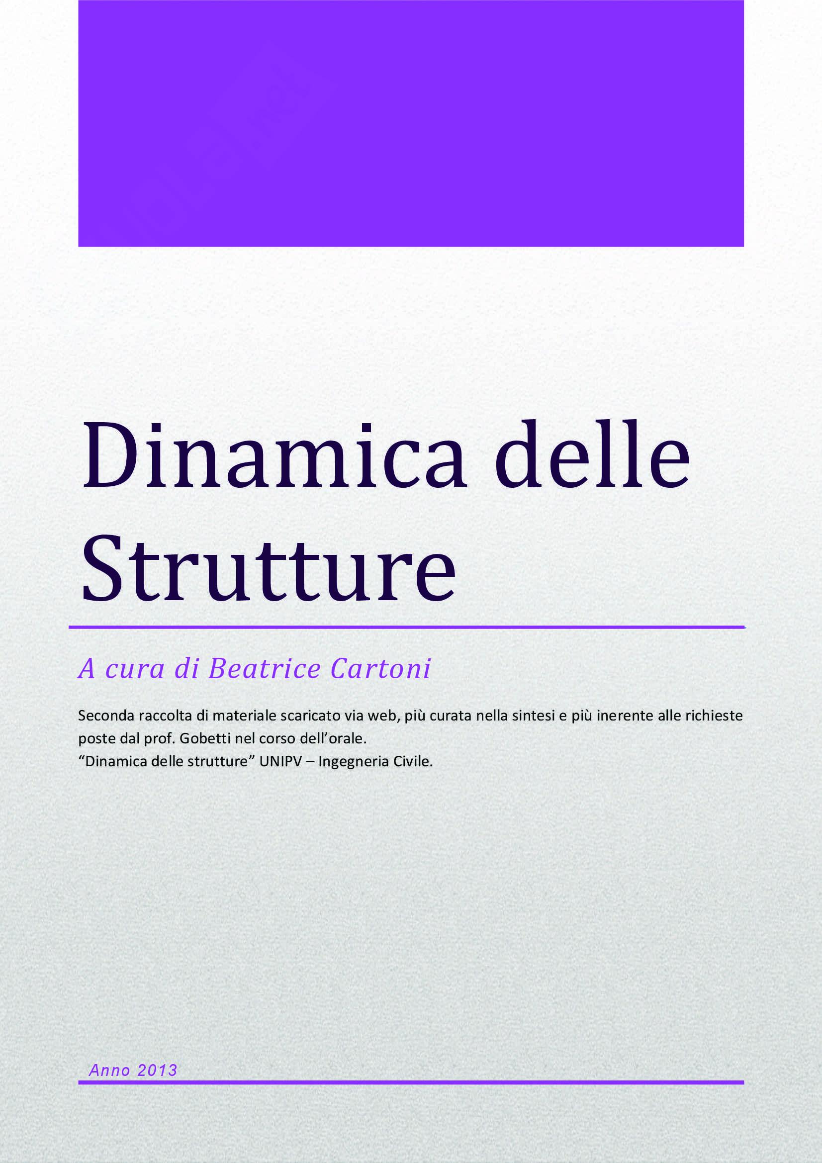 Dinamica delle strutture - Appunti