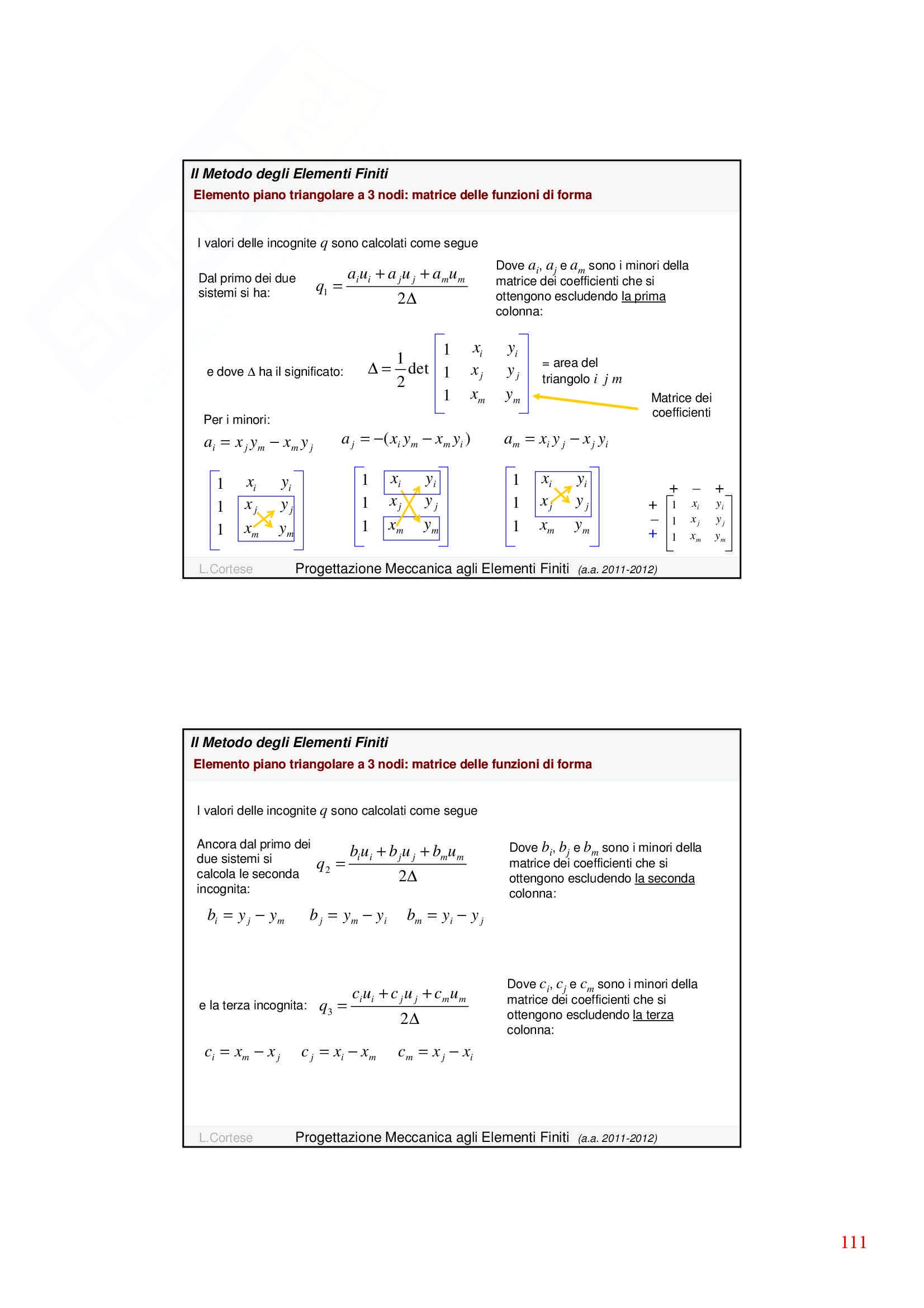 Dinamica delle strutture - Appunti Pag. 111