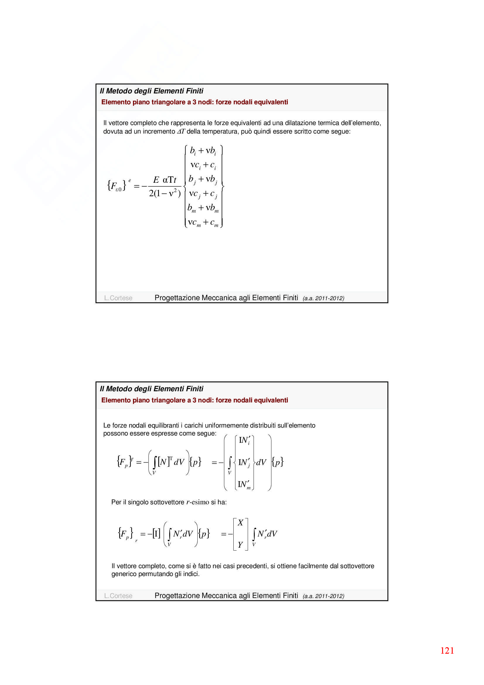 Dinamica delle strutture - Appunti Pag. 121