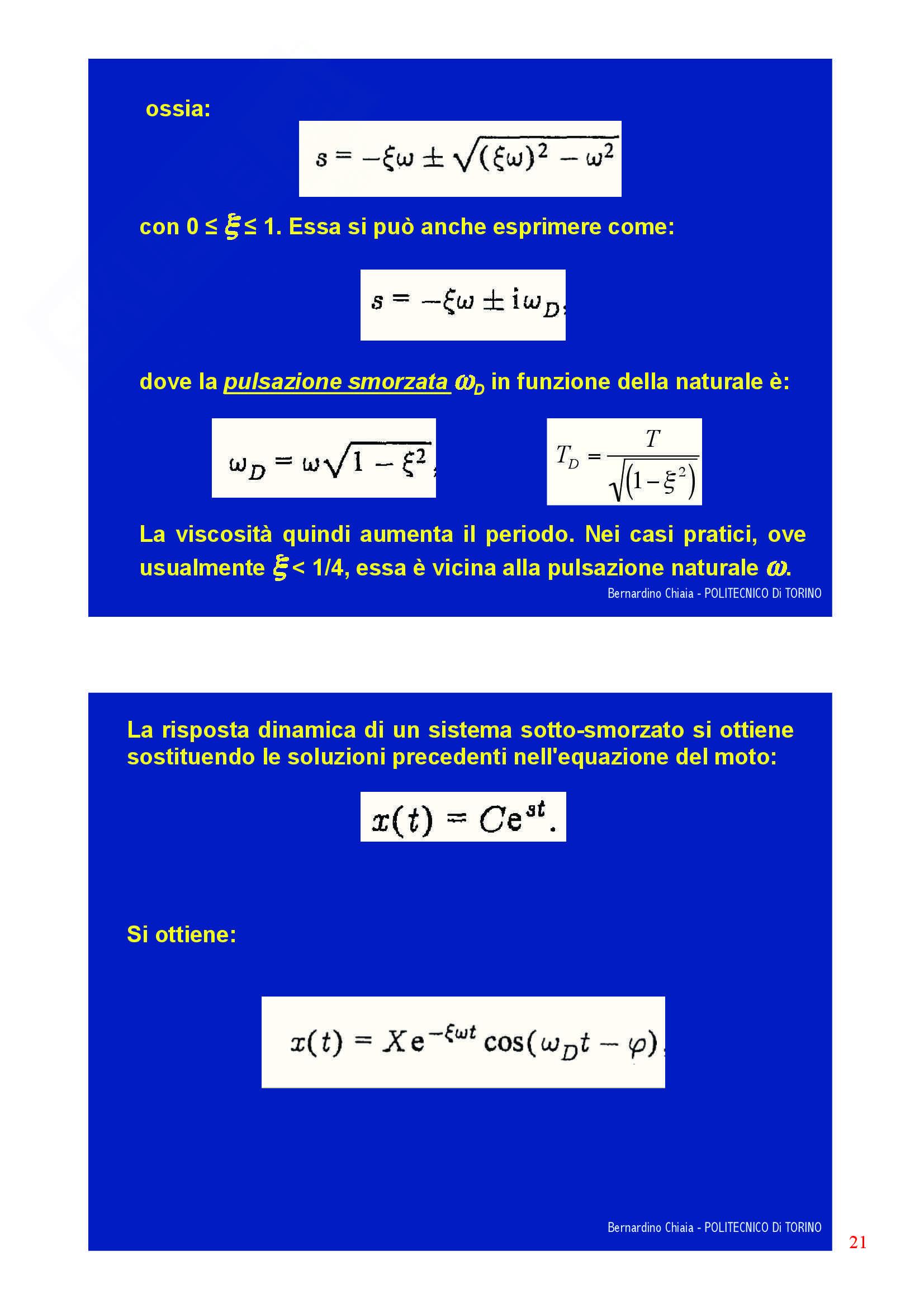 Dinamica delle strutture - Appunti Pag. 21