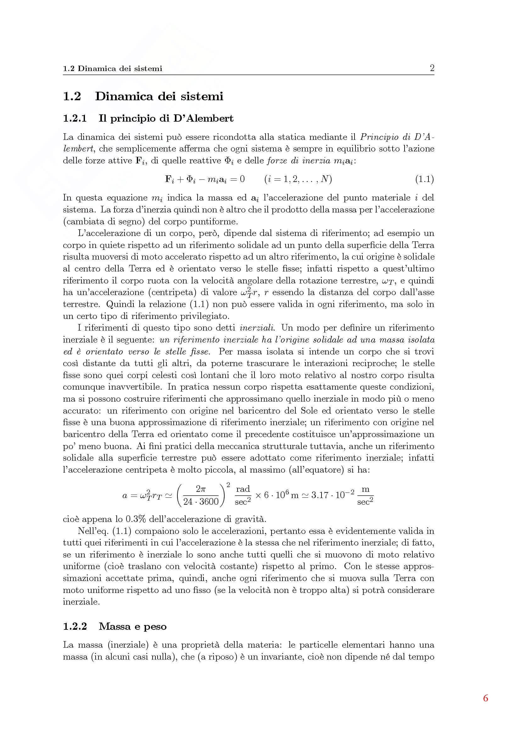 Dinamica delle strutture - Appunti Pag. 6