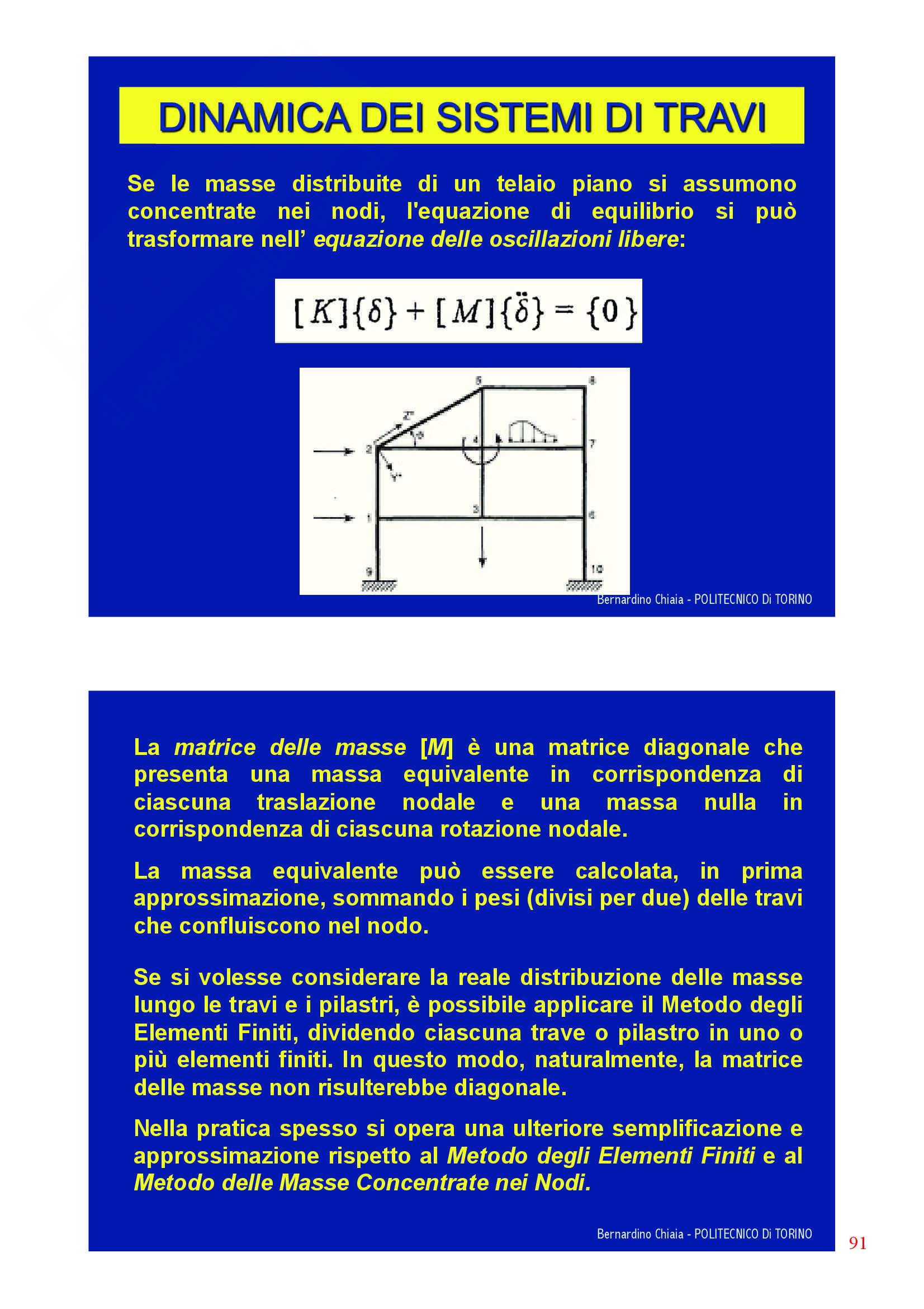 Dinamica delle strutture - Appunti Pag. 91