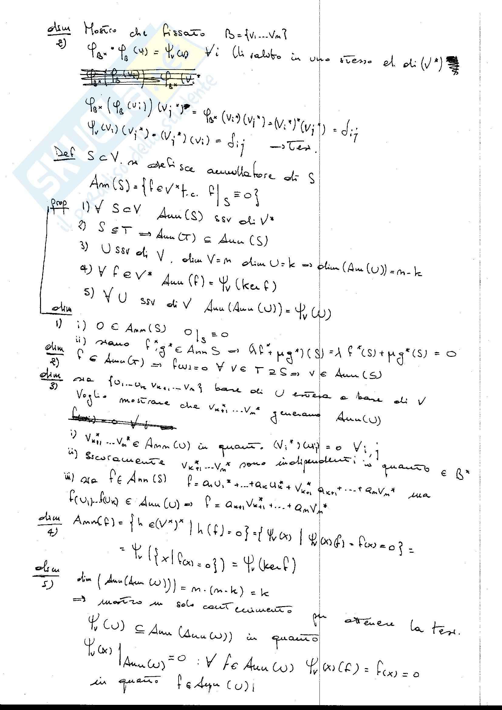 Spazio duale e biduale, Geometria analitica Pag. 2