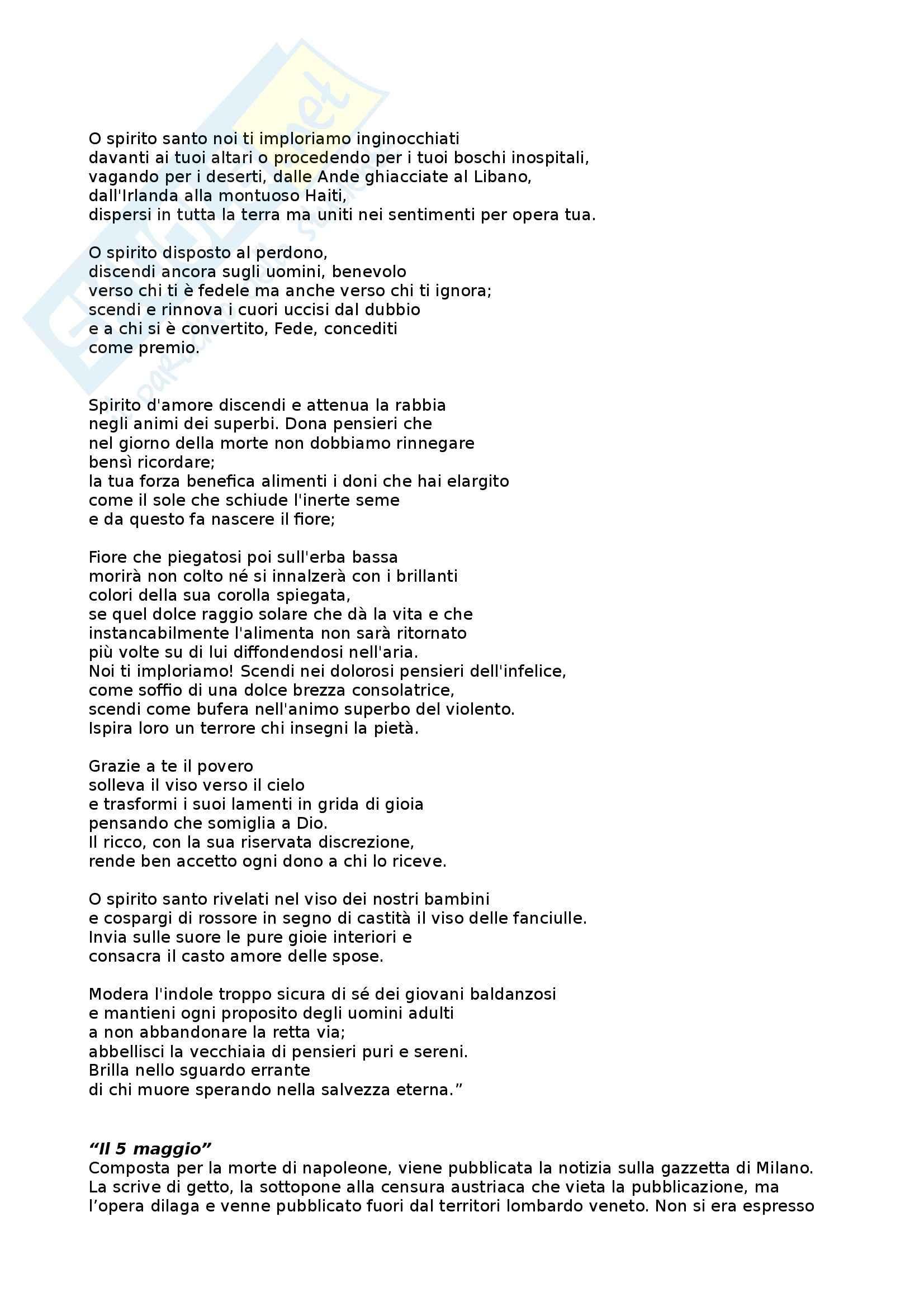 Letteratura italiana - Alessandro Manzoni Pag. 6