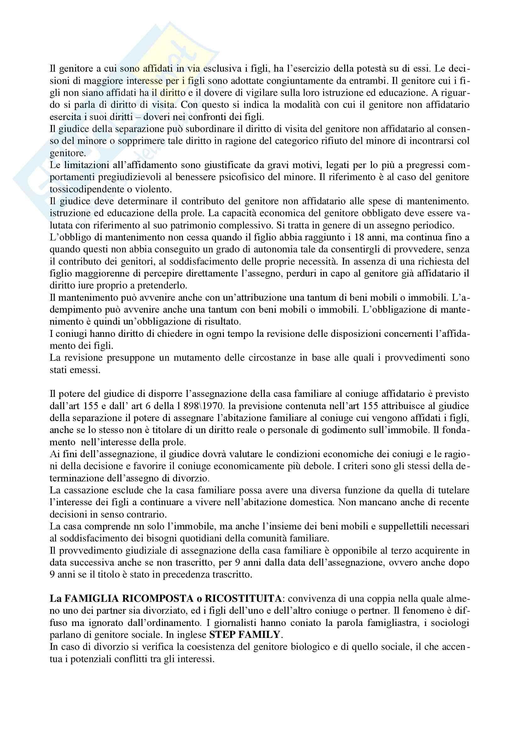 Diritto di famiglia - Riassunto esame Pag. 21