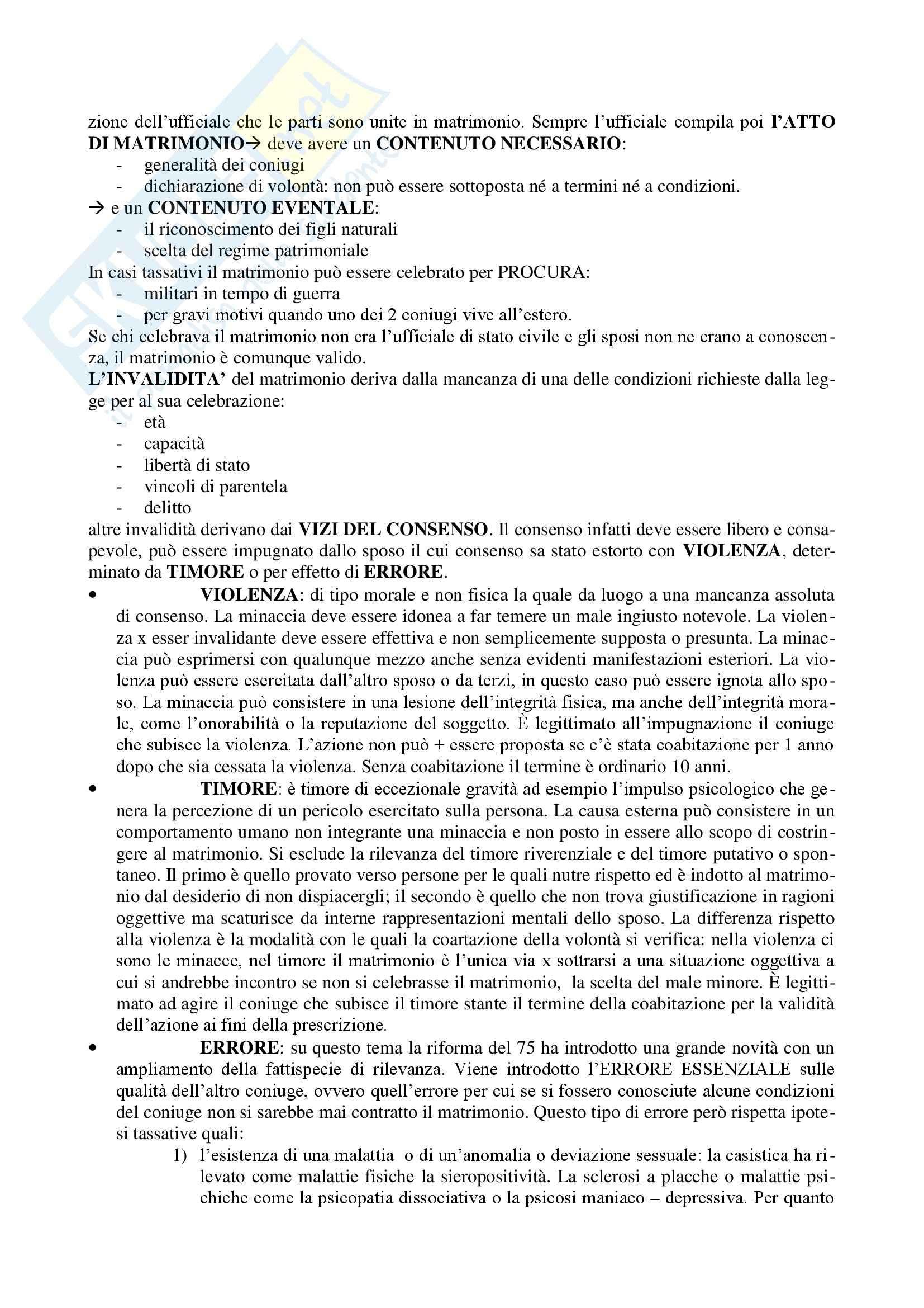 Diritto di famiglia - Riassunto esame Pag. 6