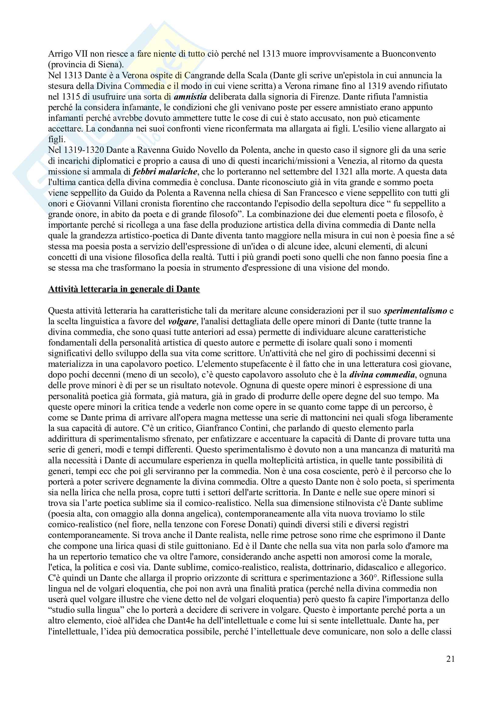 Letteratura Italiana Duecento e Trecento seconda parte Pag. 21