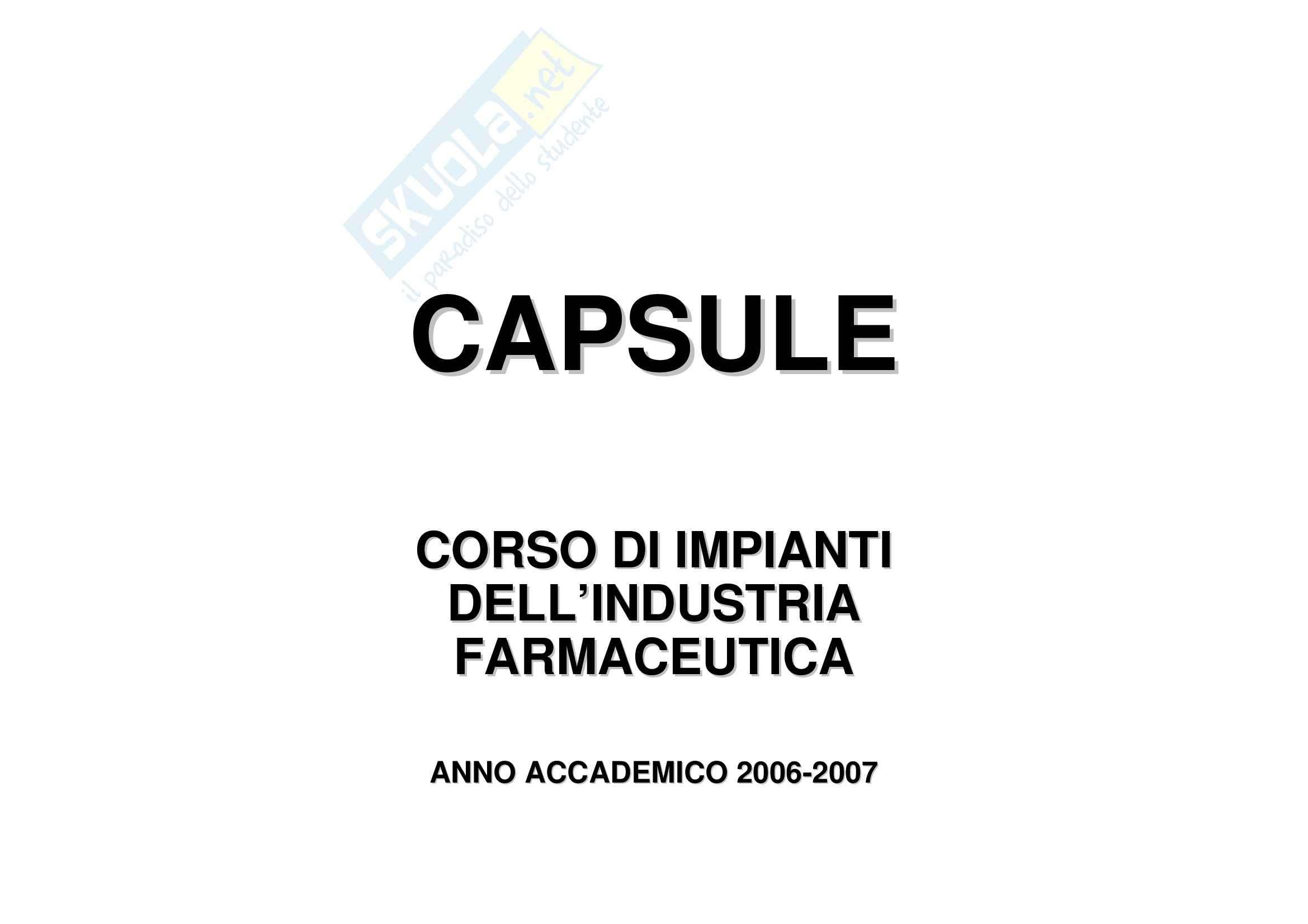 Tecnica farmaceutica - le capsule