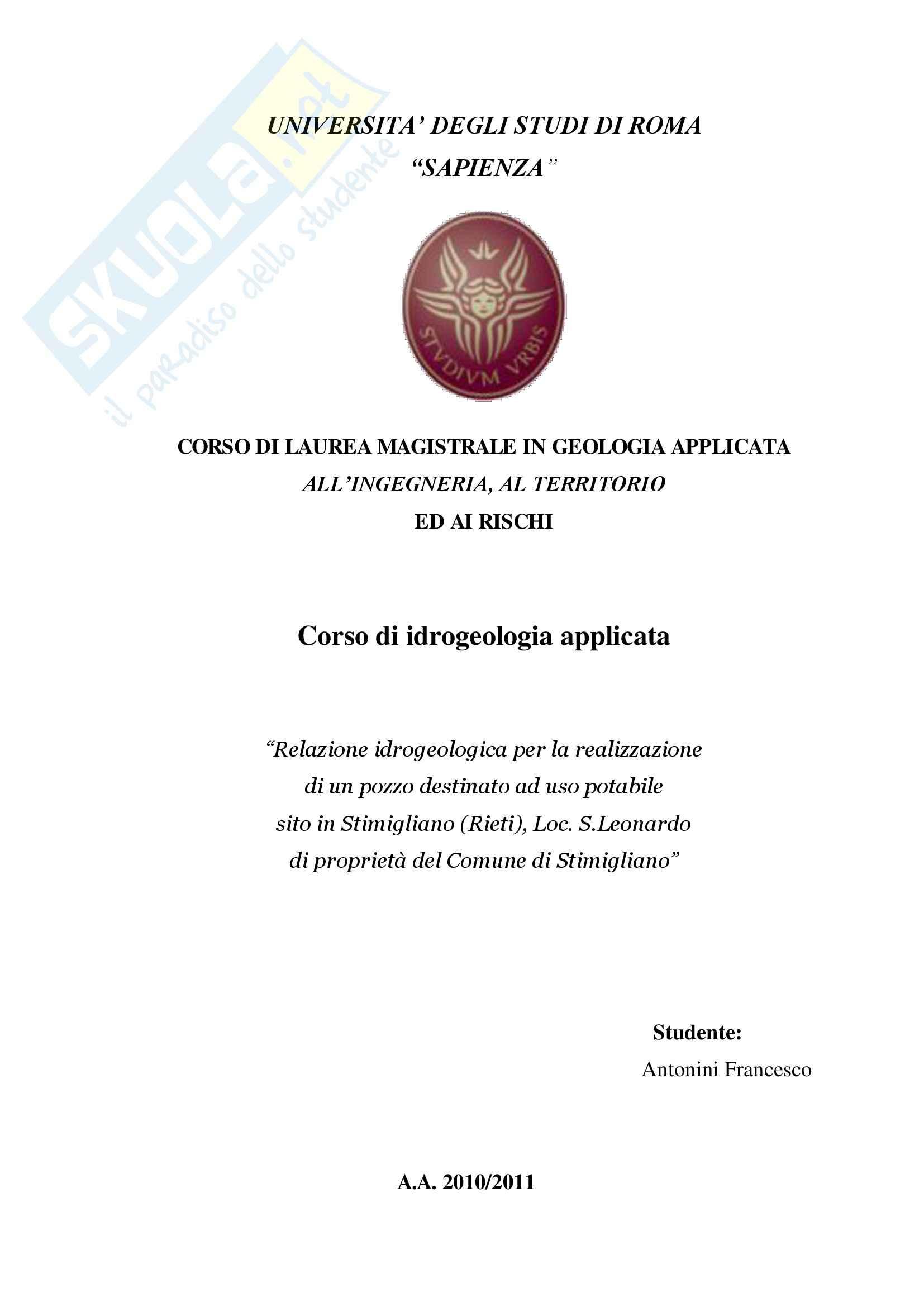 appunto M. Petitta Idrogeologia