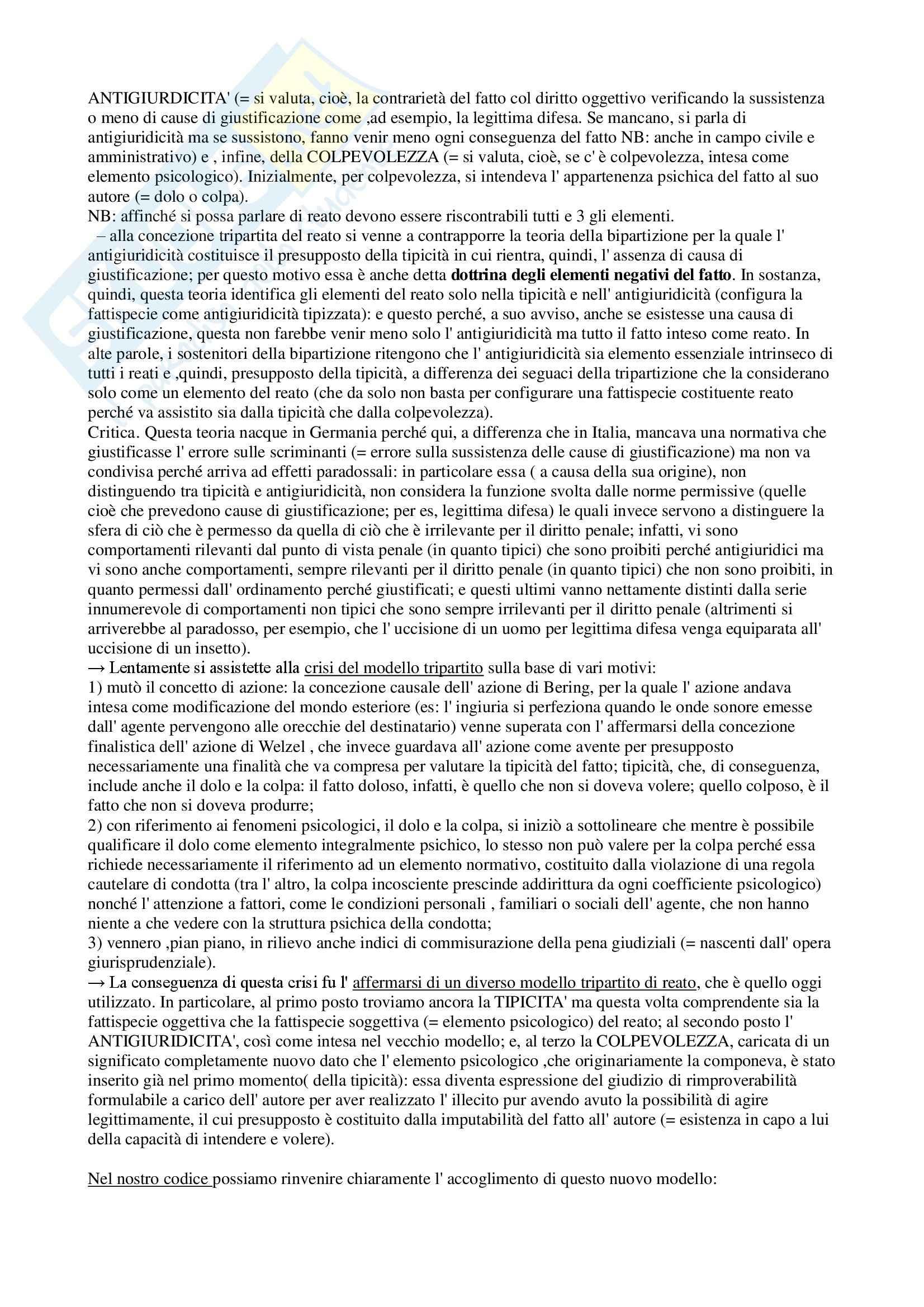 Riassunto esame Diritto, prof. Assumma, libro consigliato Diritto Penale, Fiore Pag. 11