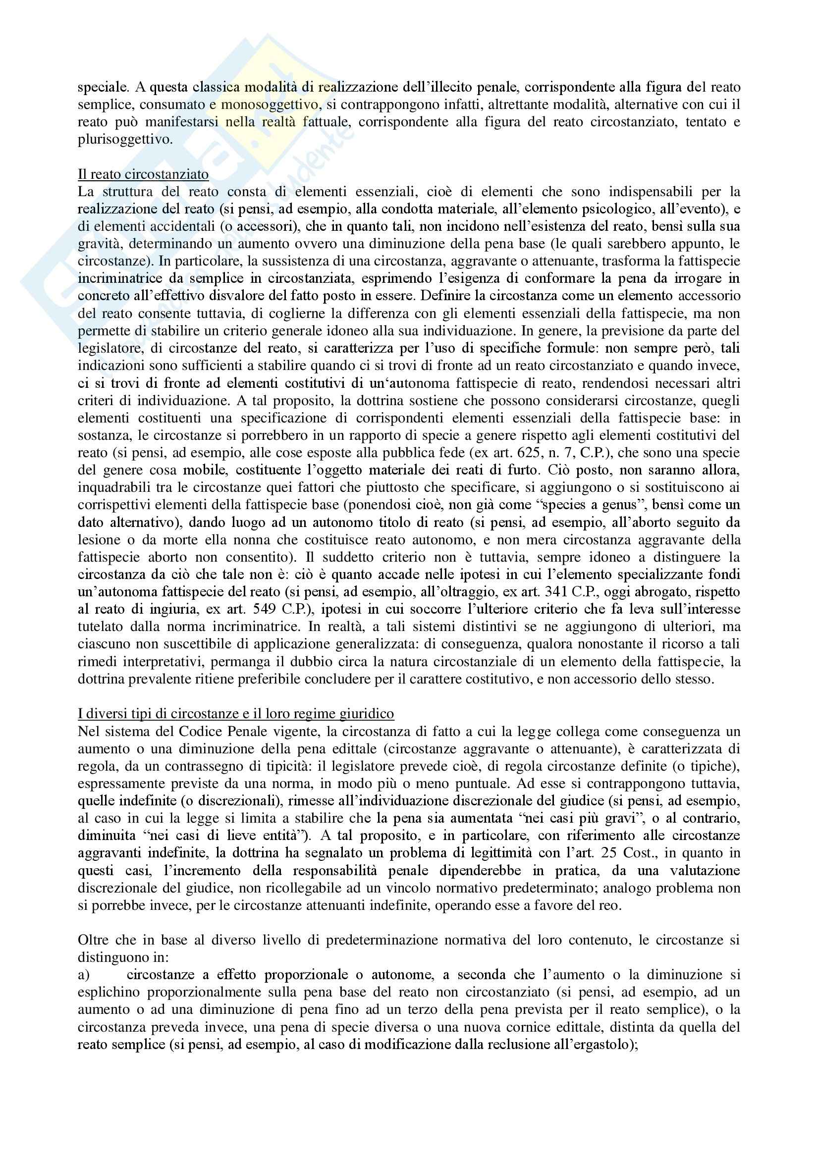 Riassunto esame Diritto, prof. Assumma, libro consigliato Diritto Penale, Fiore Pag. 46