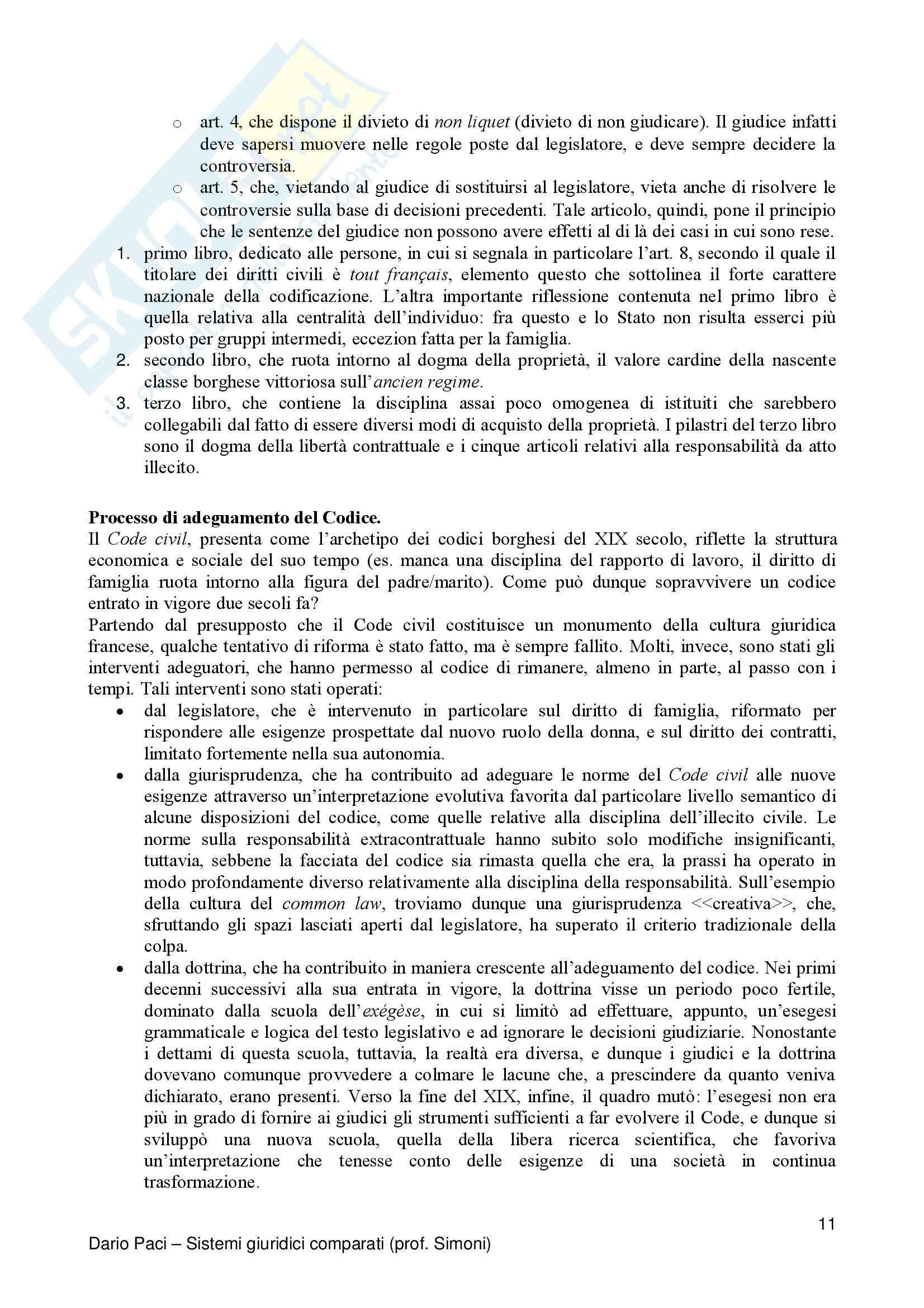 Riassunto esame Diritto Privato Comparato, prof. Salanitro, libro consigliato Introduzione al Diritto Comparato, K.Zweigert Pag. 11