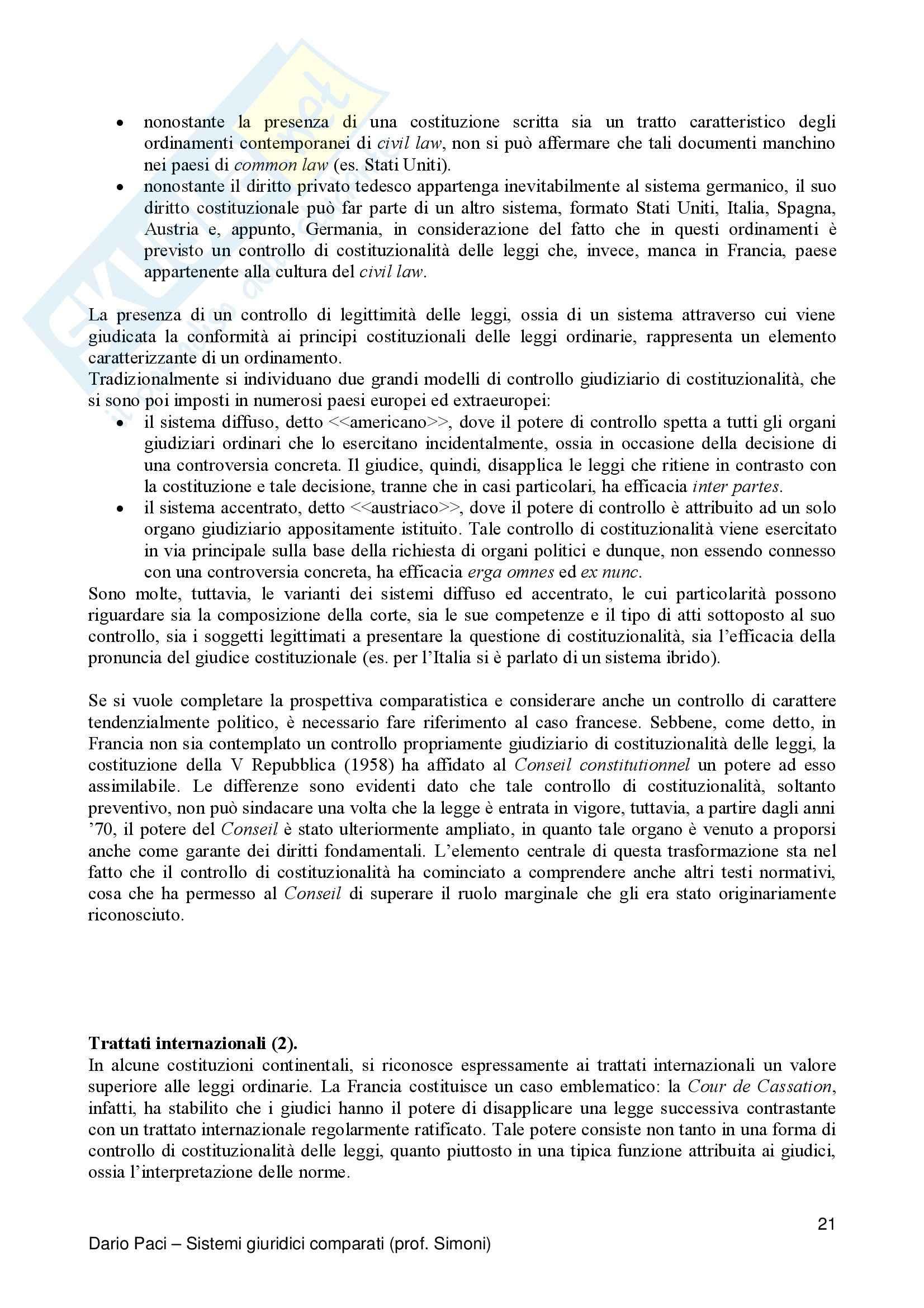 Riassunto esame Diritto Privato Comparato, prof. Salanitro, libro consigliato Introduzione al Diritto Comparato, K.Zweigert Pag. 21