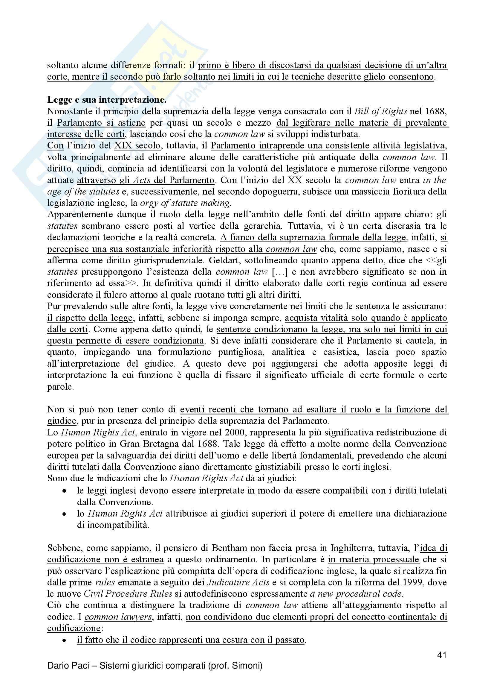 Riassunto esame Diritto Privato Comparato, prof. Salanitro, libro consigliato Introduzione al Diritto Comparato, K.Zweigert Pag. 41
