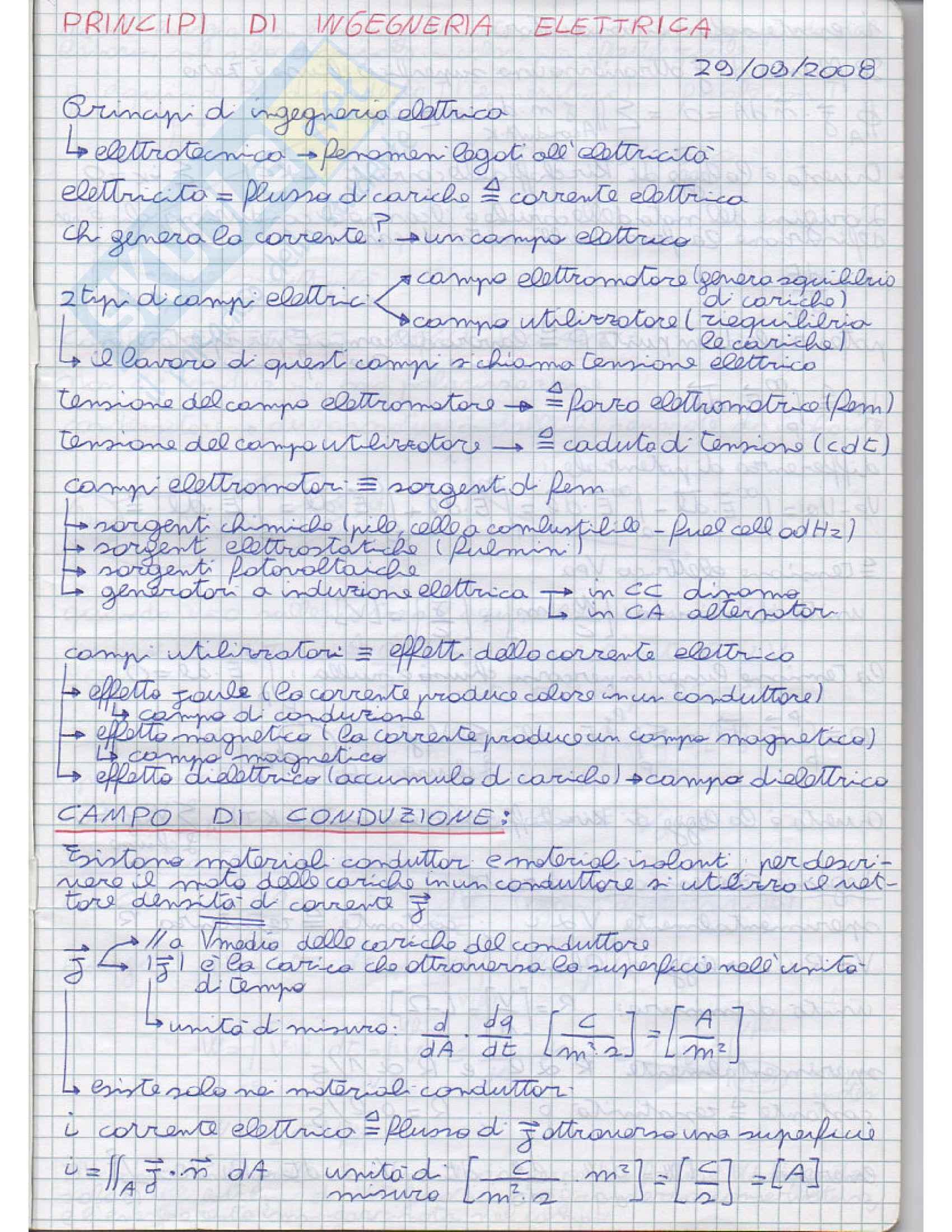 Principi di ingegneria elettrica - Appunti