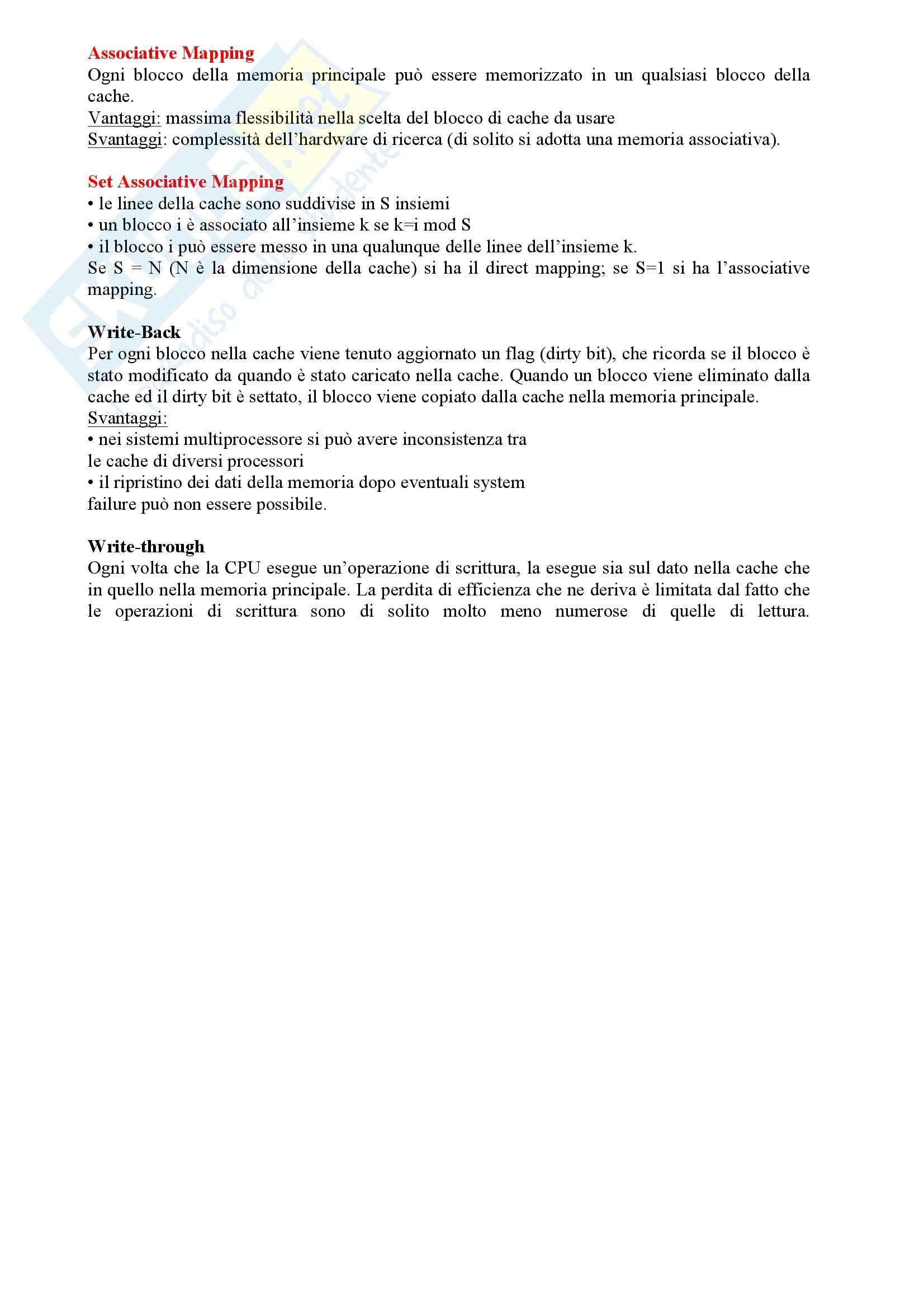 Calcolatori Elettronici - Riassunto esame teoria, prof. Sonza Pag. 6