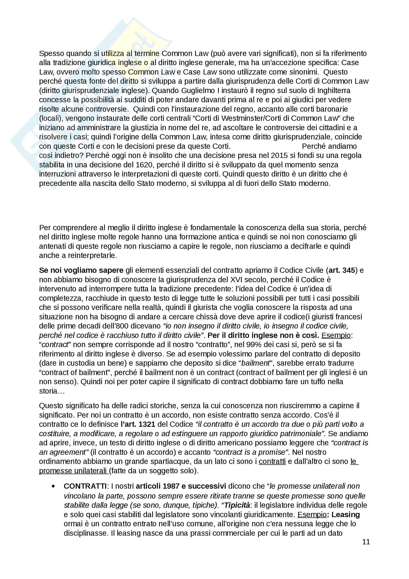 Diritto privato comparato Pag. 11