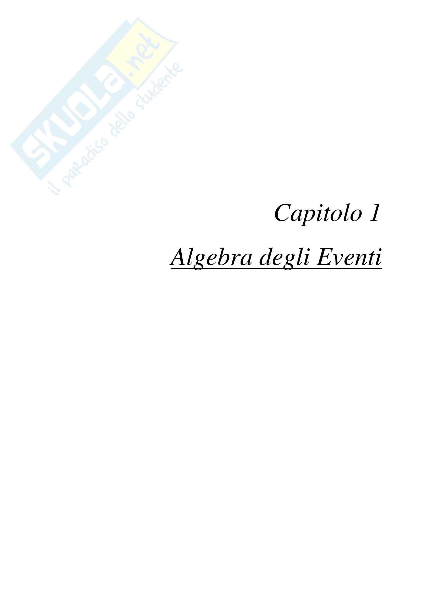 Lezioni: Appunti di Statistica e Calcolo delle Probabilità