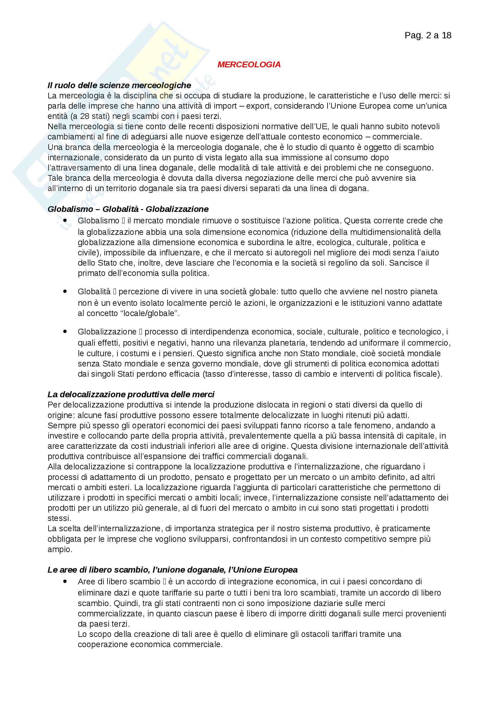 Riassunti Merceologia Pag. 2