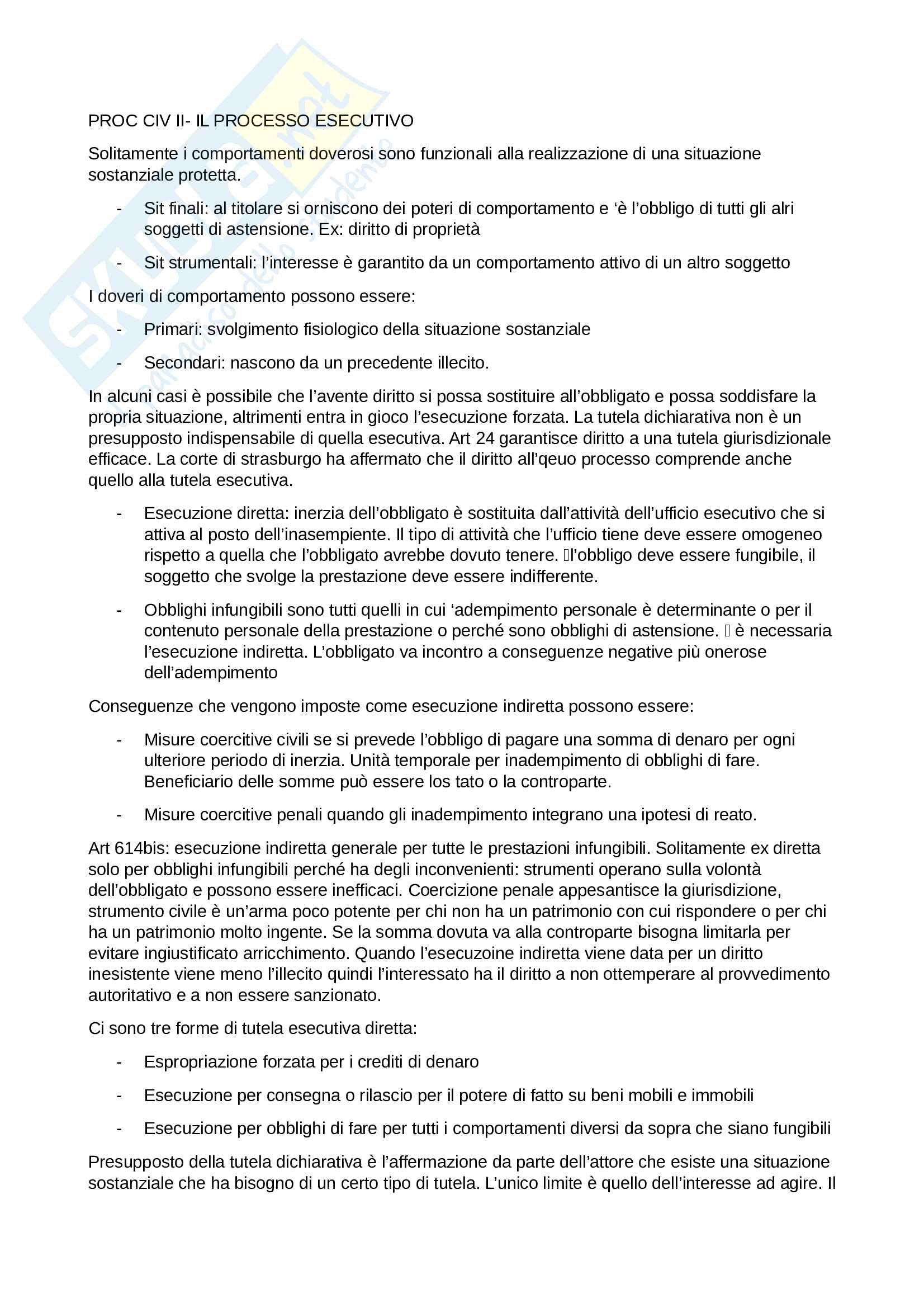 Procedura Civile II - schemi Pag. 1