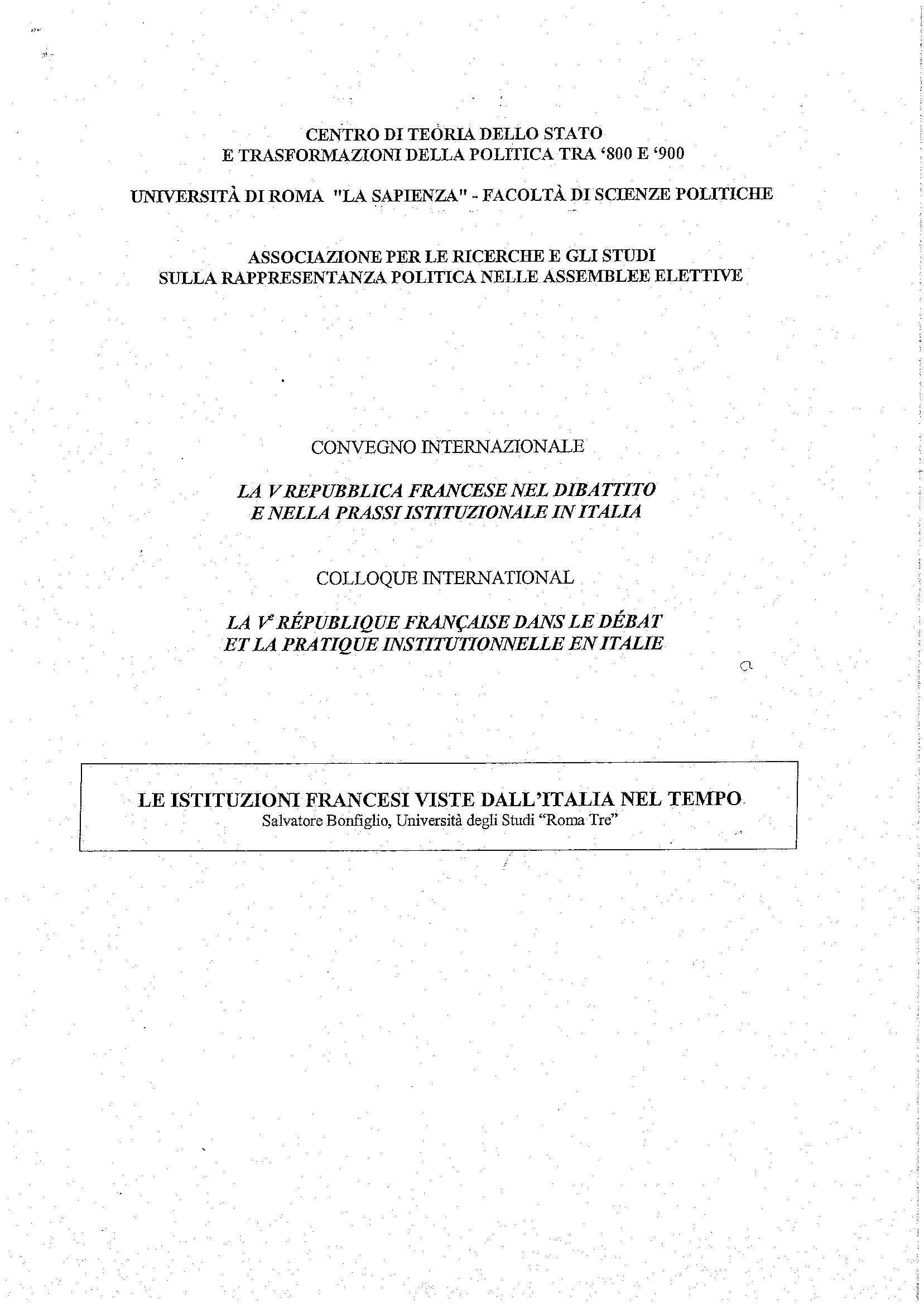 dispensa S. Bonfiglio Diritto costituzionale italiano e comparato
