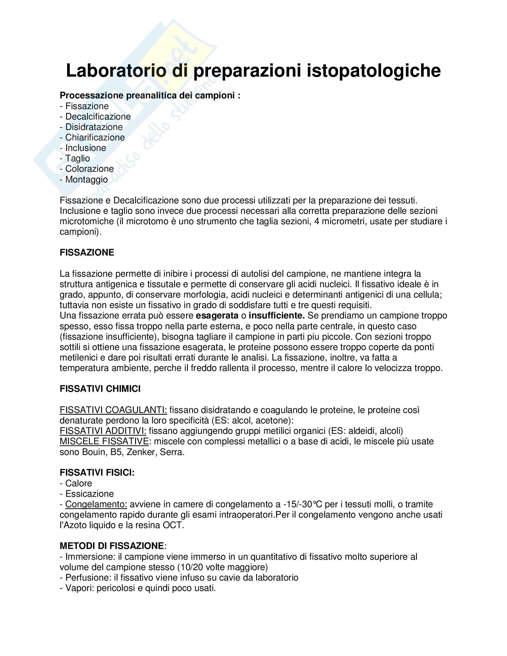 appunti istopatologia