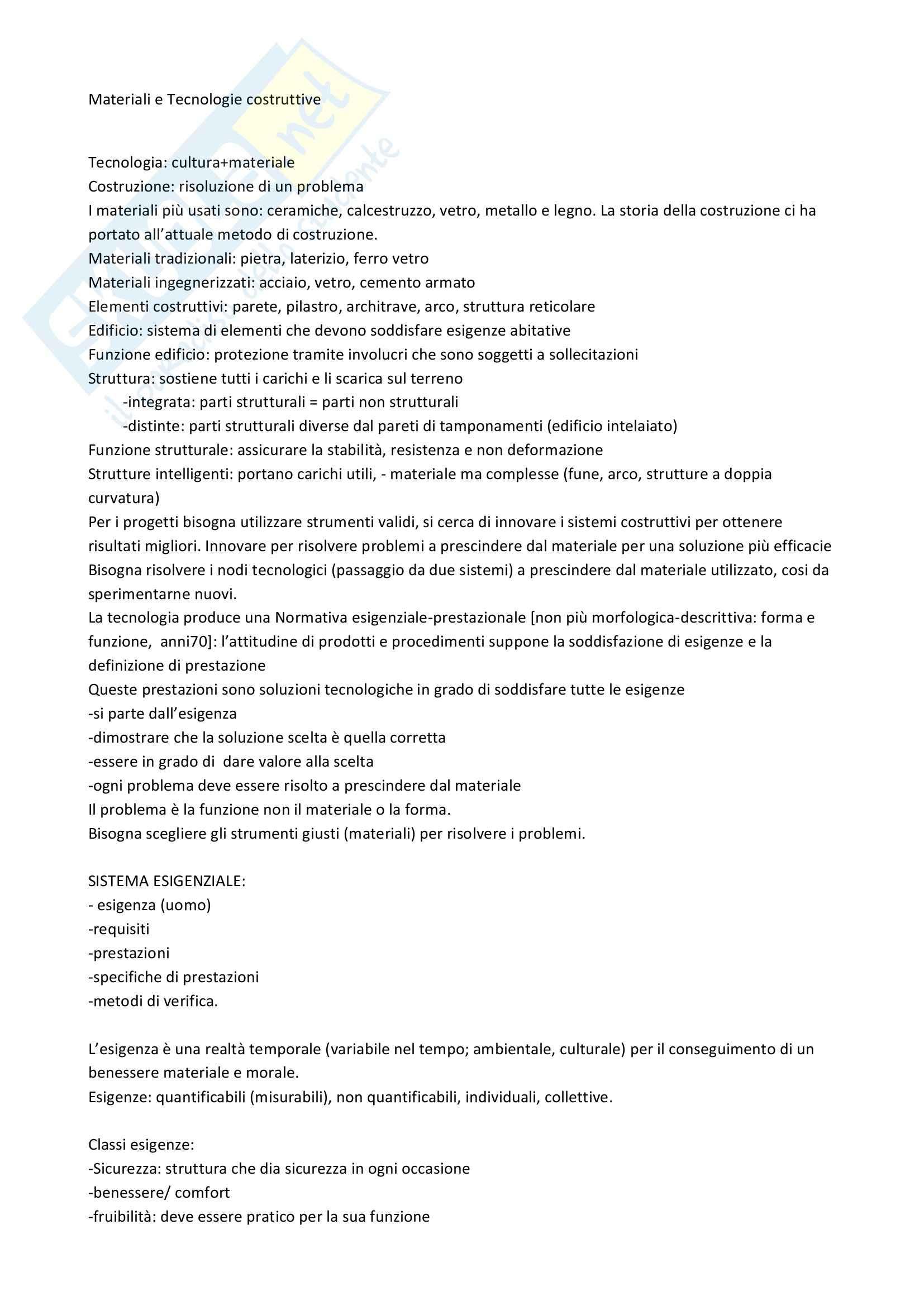 Lezioni, Materiale ed elementi costruttivi