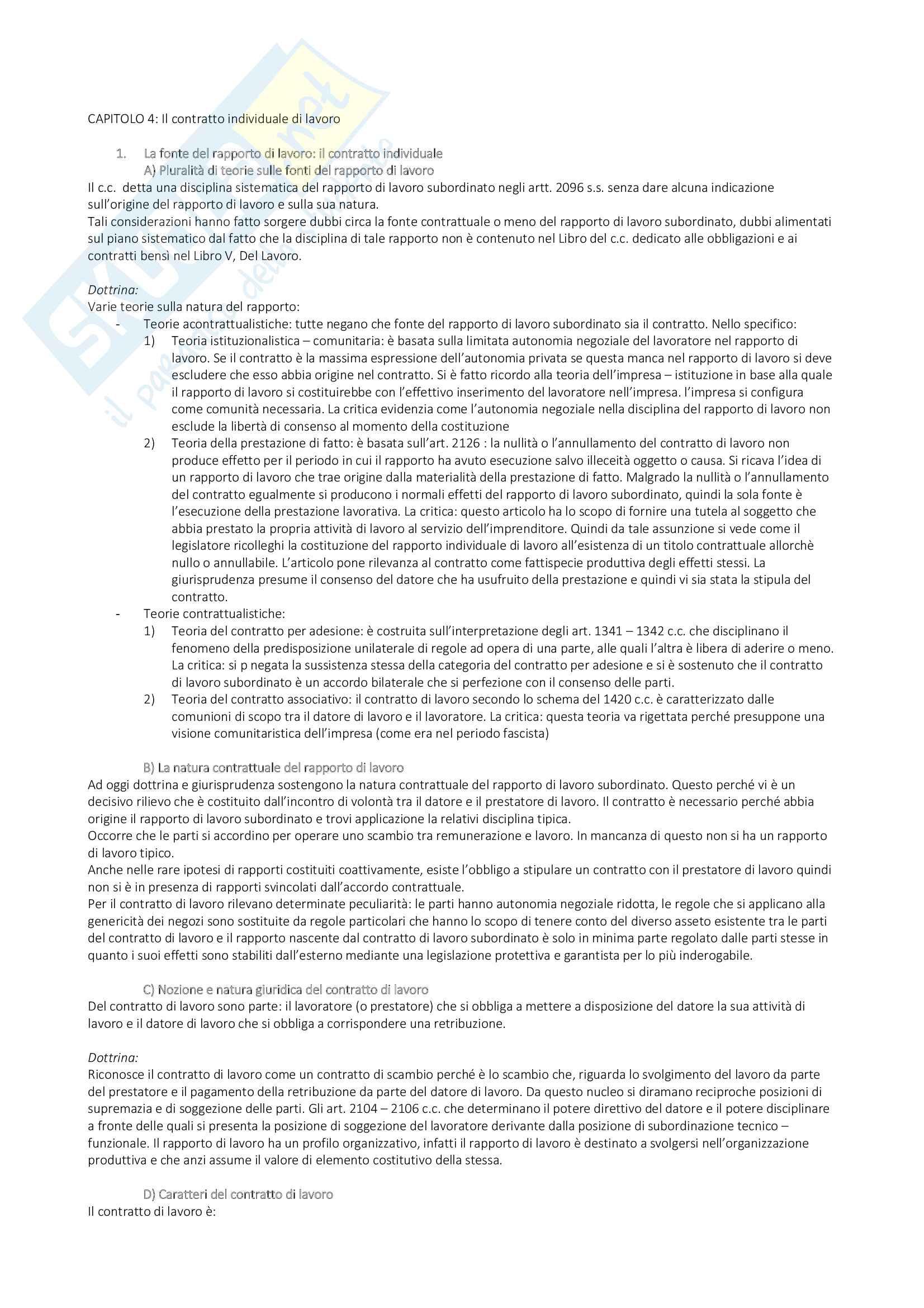 appunto M. Cerreta Diritto del lavoro