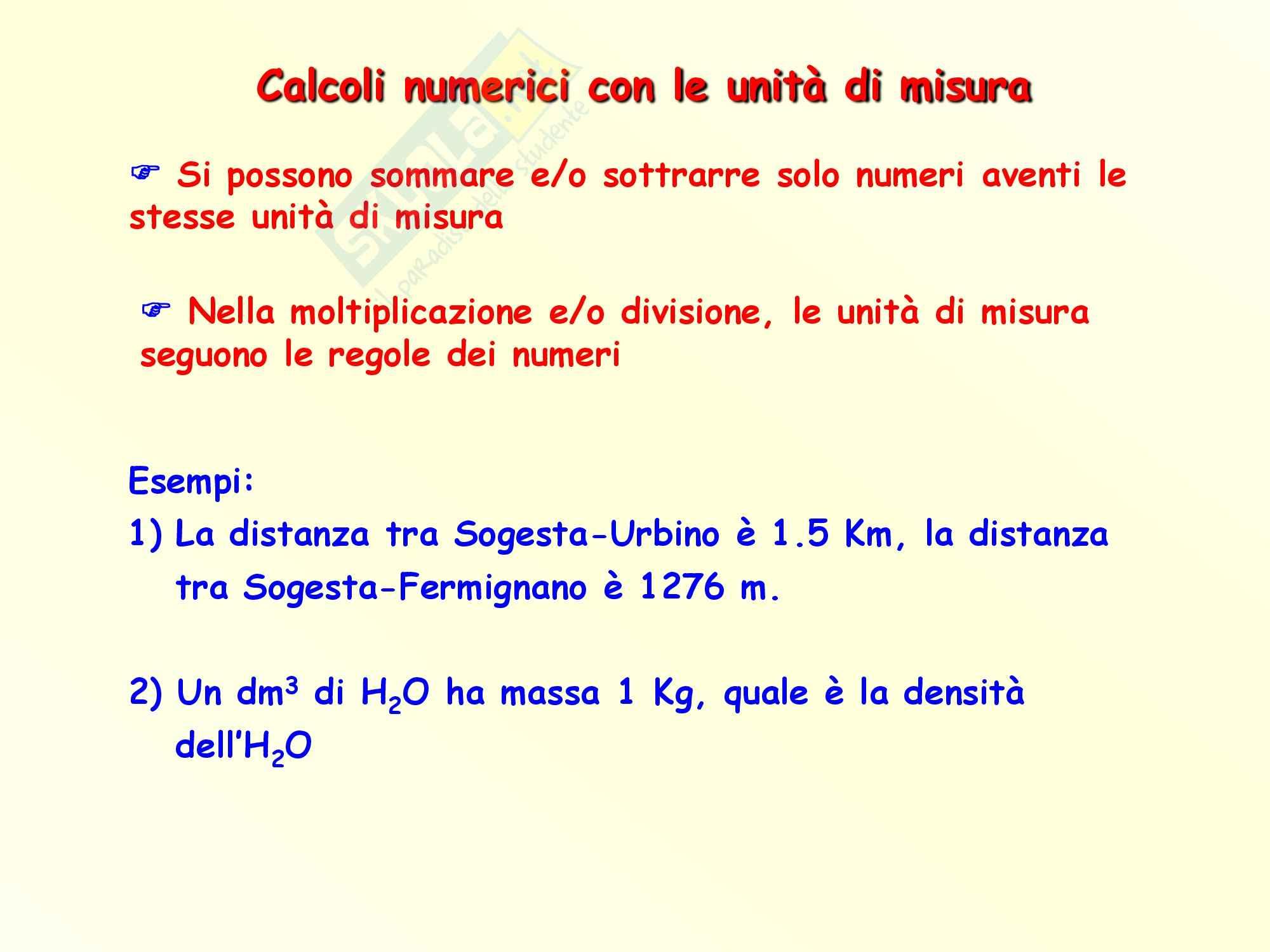 Chimica inorganica - calcoli numerici con le unità di misura